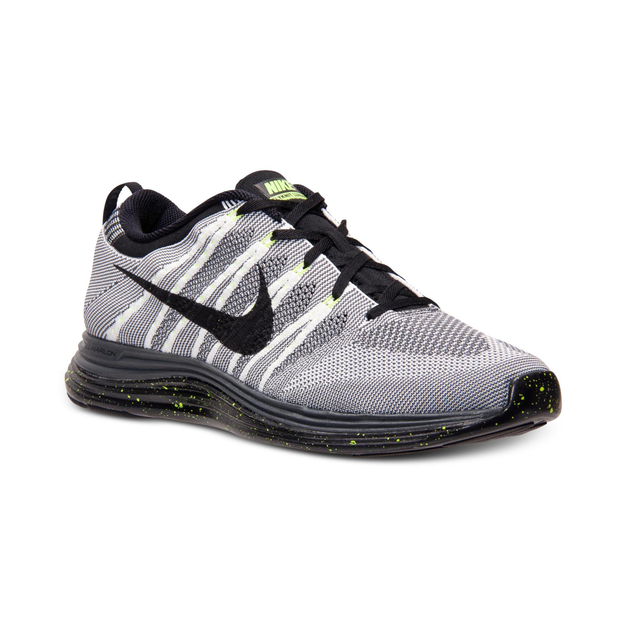 Lyst - Nike Mens Flyknit Lunar 1 Running Sneakers From Finish Line in Black for  Men