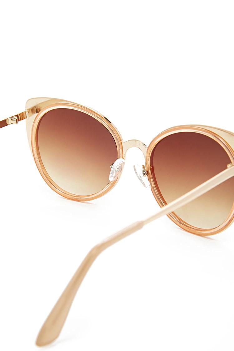 Sunglasses Forever 21  forever 21 grant cat eye sunglasses in brown lyst