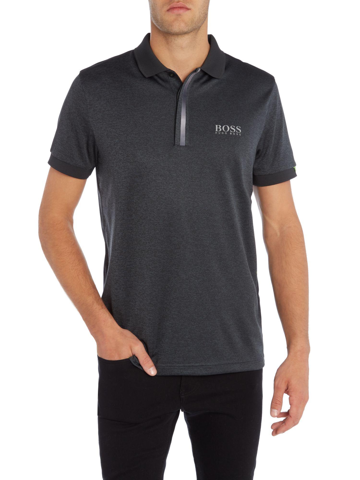 6bce24c6c Hugo Boss Green Paddy 5 Dot Print Polo Shirt – EDGE Engineering and ...