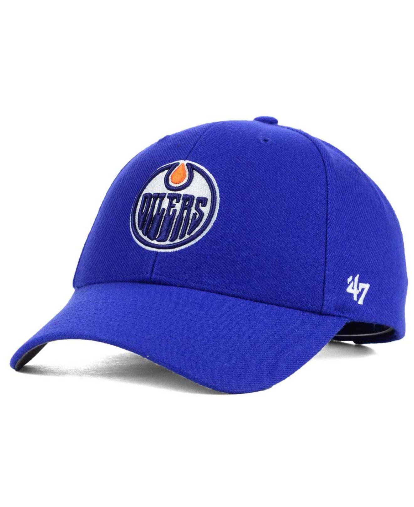 d68d0a9cbda7ed 47 Brand Edmonton Oilers Curved Mvp Cap in Blue for Men - Lyst