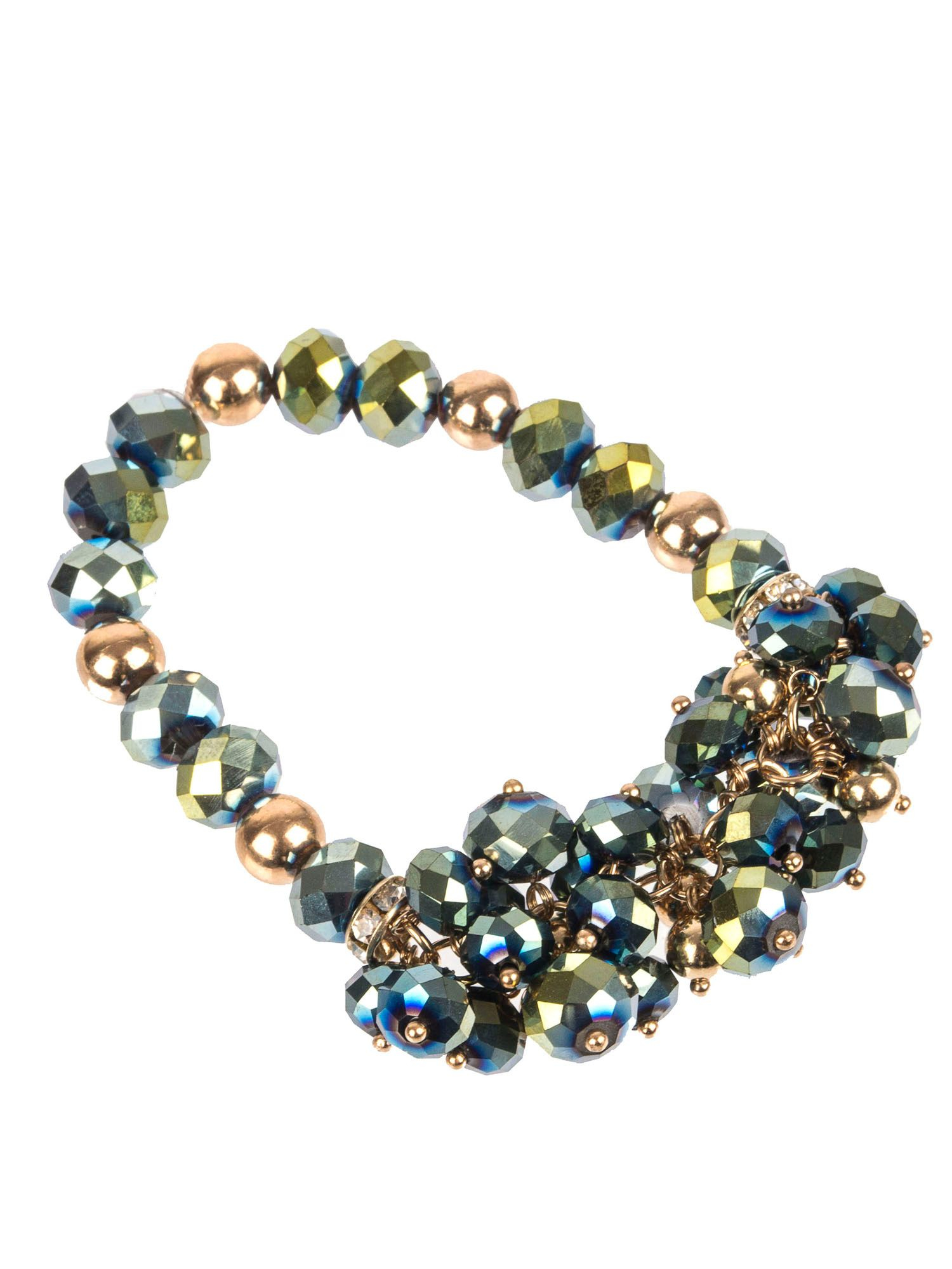 lyst gaby esta beaded cluster bracelet in green