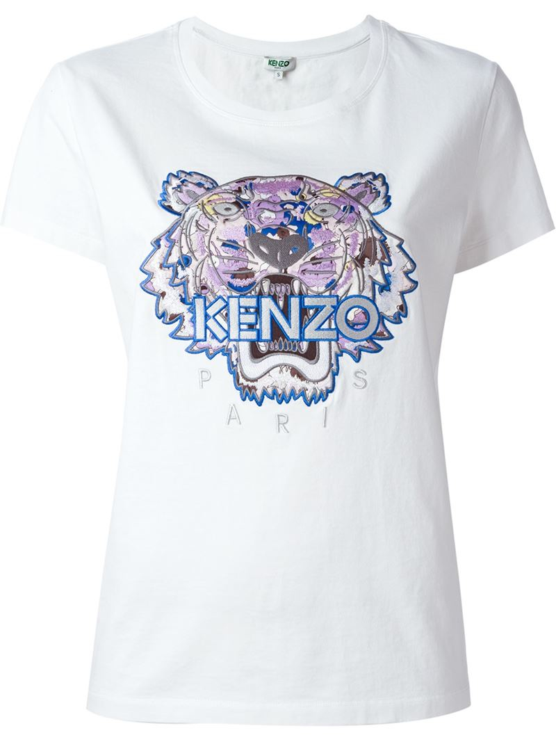 Lyst Kenzo 39 Tiger 39 T Shirt In Blue