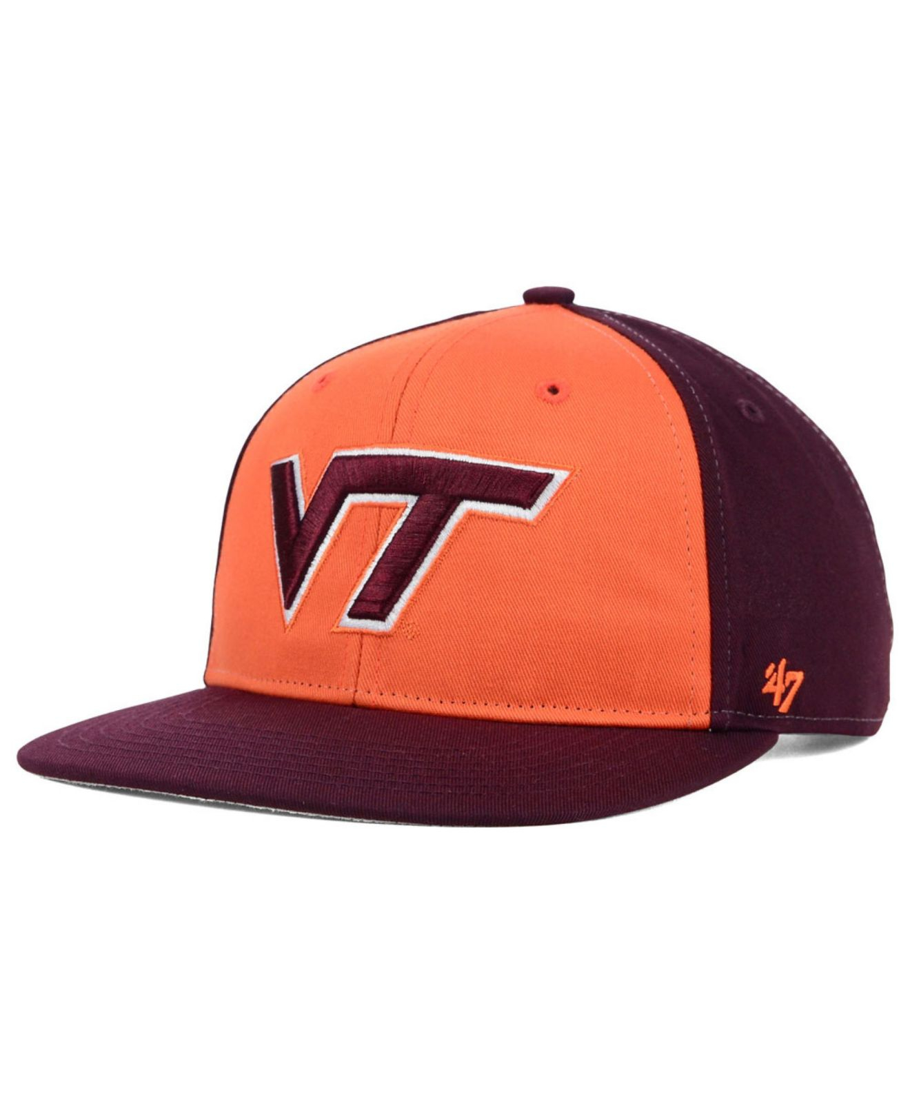 new concept c4d5f 944f7 buy syracuse orange 47 ncaa 47 franchise cap 8f489 582f7  best price lyst 47  brand kids virginia tech hokies snapback cap in orange b5ab3 b8e33