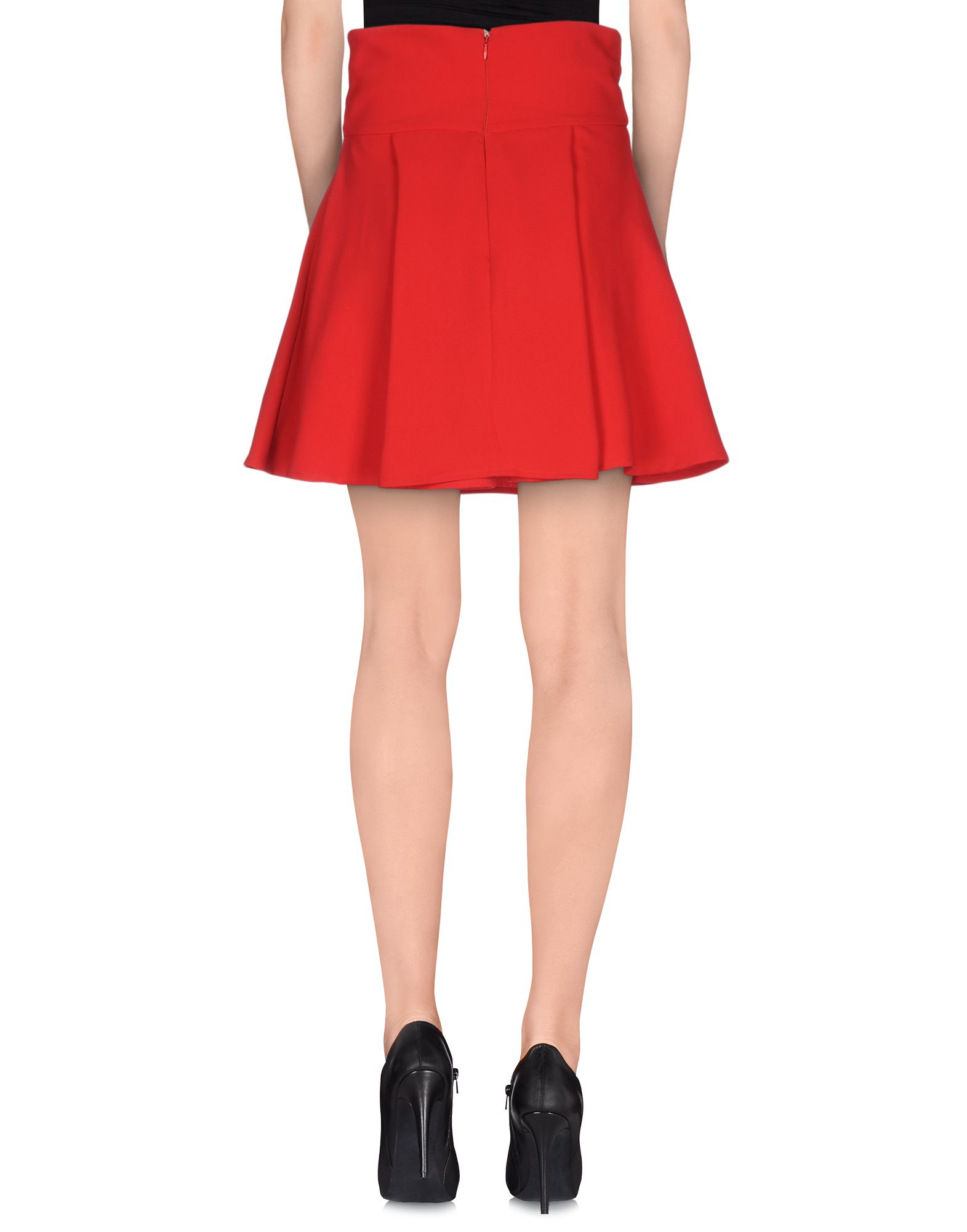 Elisabetta franchi Knee Length Skirt in Red | Lyst