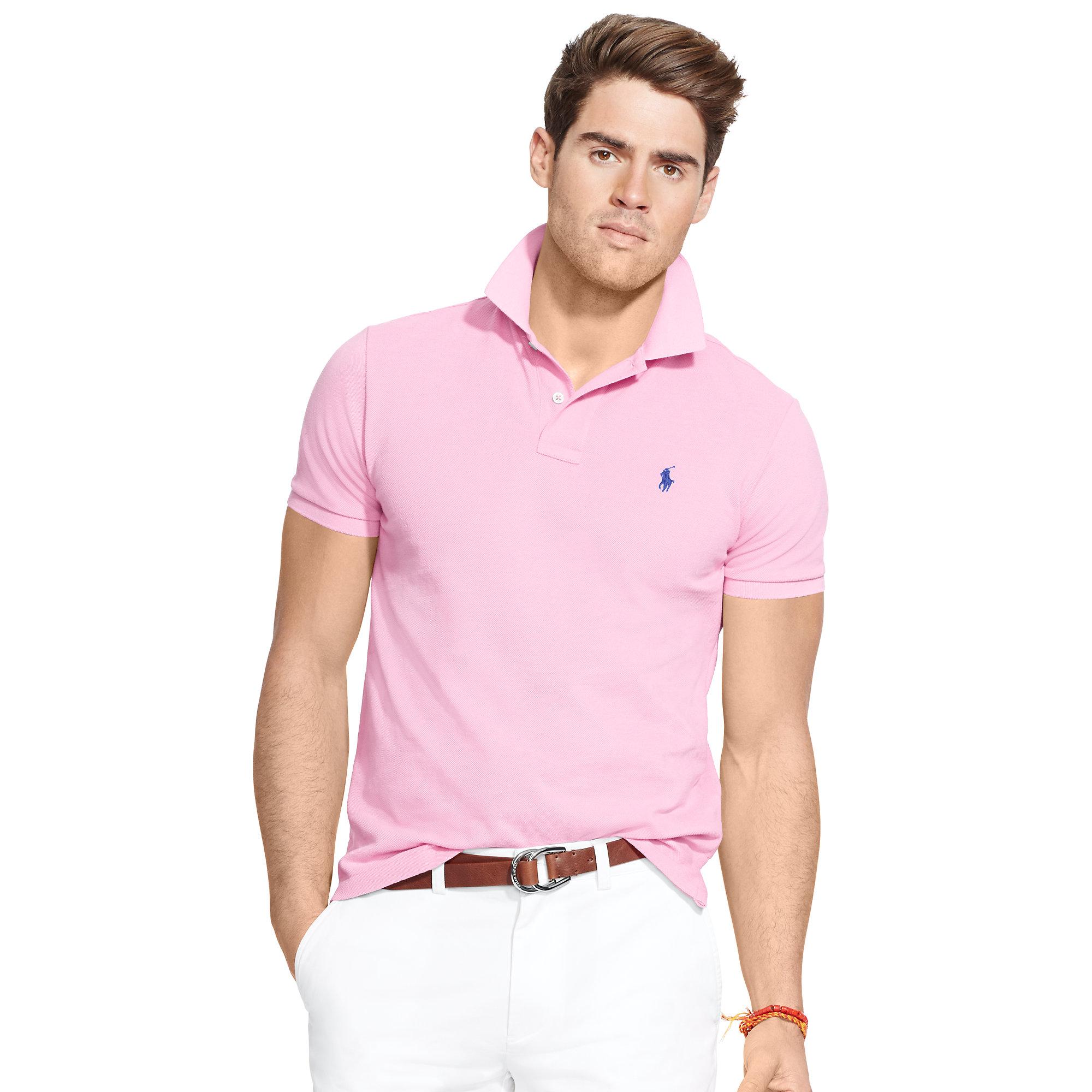 Hot Pink Mens Polo Shirt Joe Maloy
