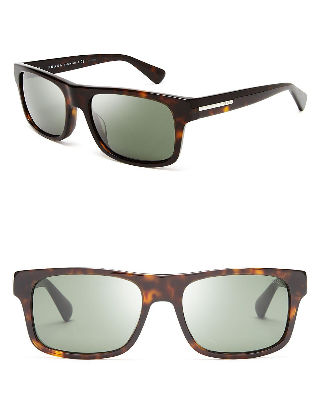 67efc9be7552 Lyst - Prada Wayfarer Sunglasses in Brown for Men