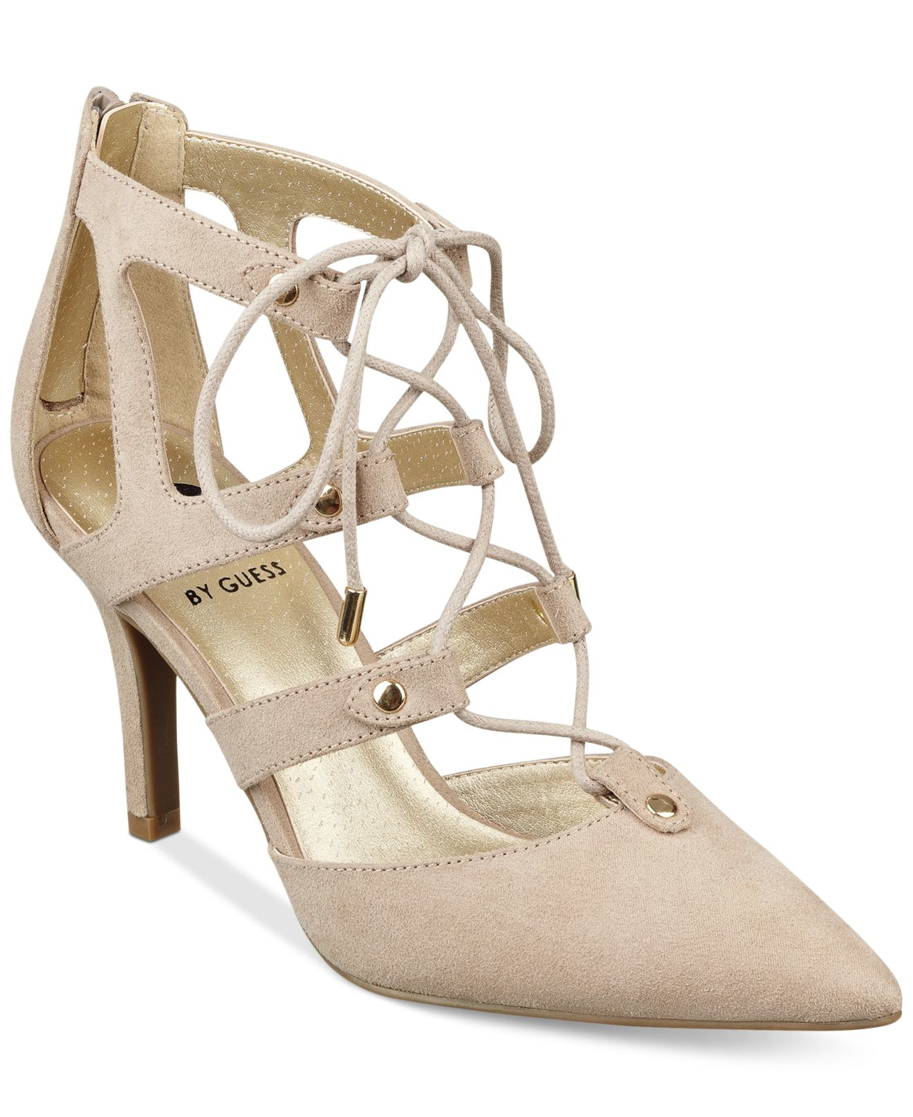 046331f05ac Lyst - G by Guess Krona Lace-up Pumps in Natural