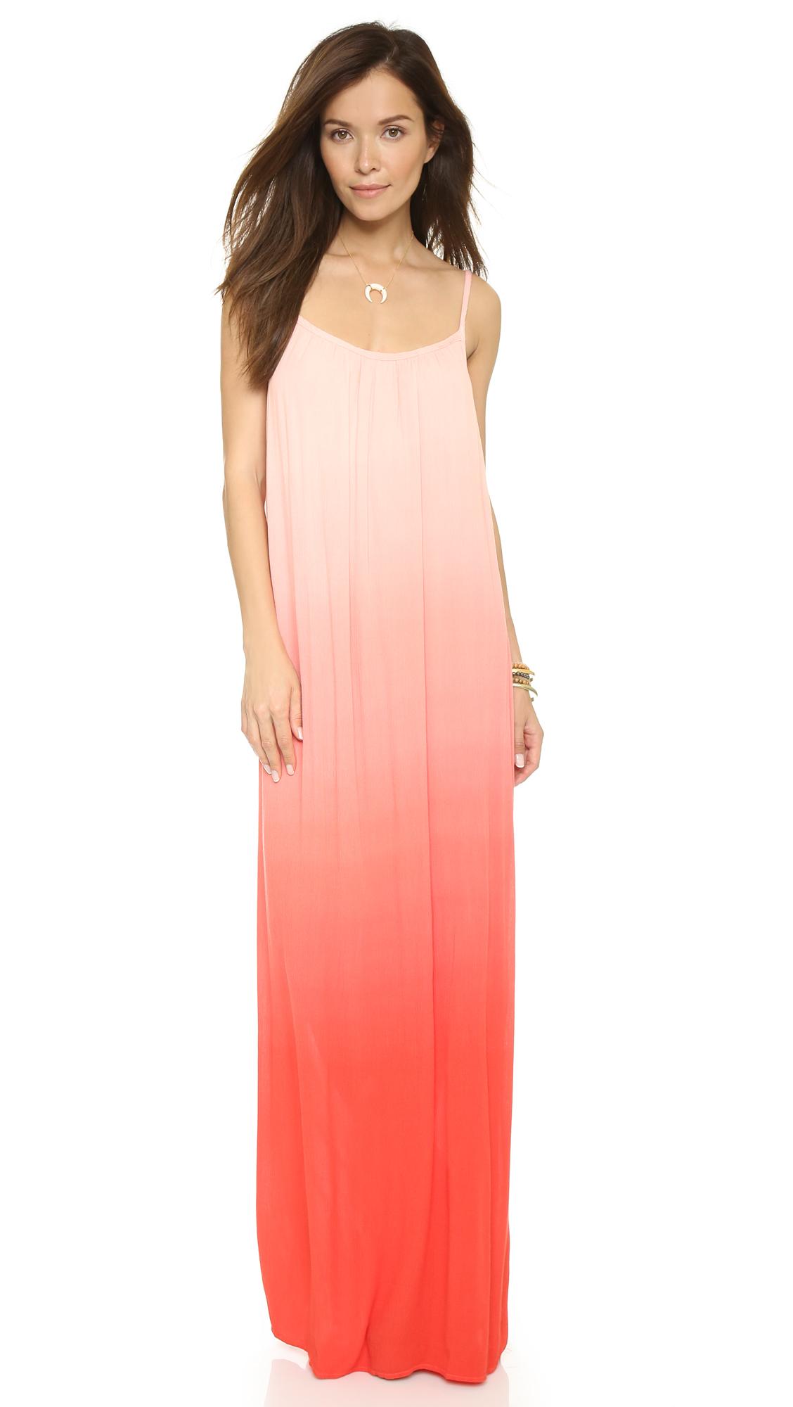 Pink Ombre Maxi Dress - Missy Dress