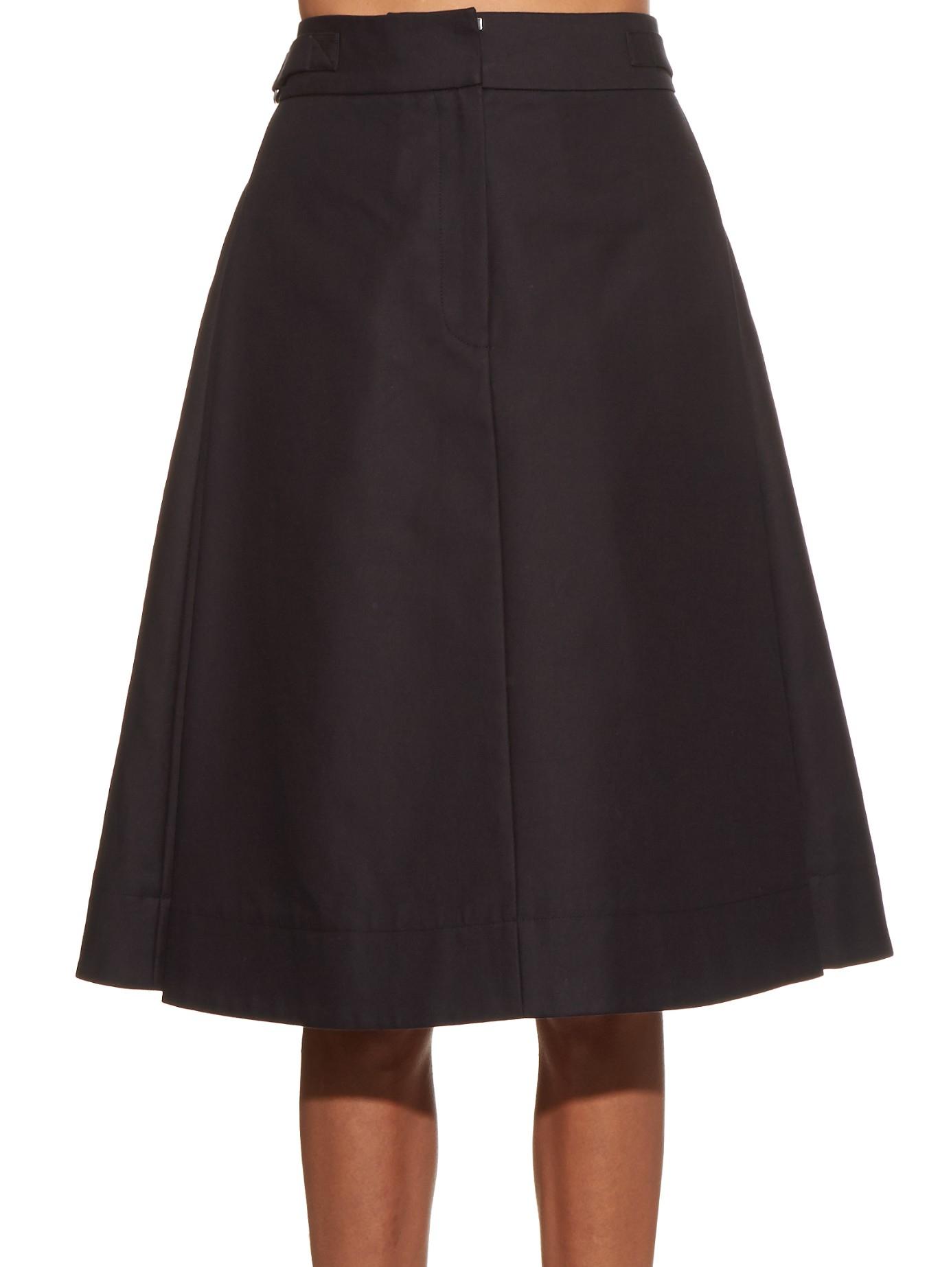 Alexander wang High-waisted A-line Skirt in Black   Lyst