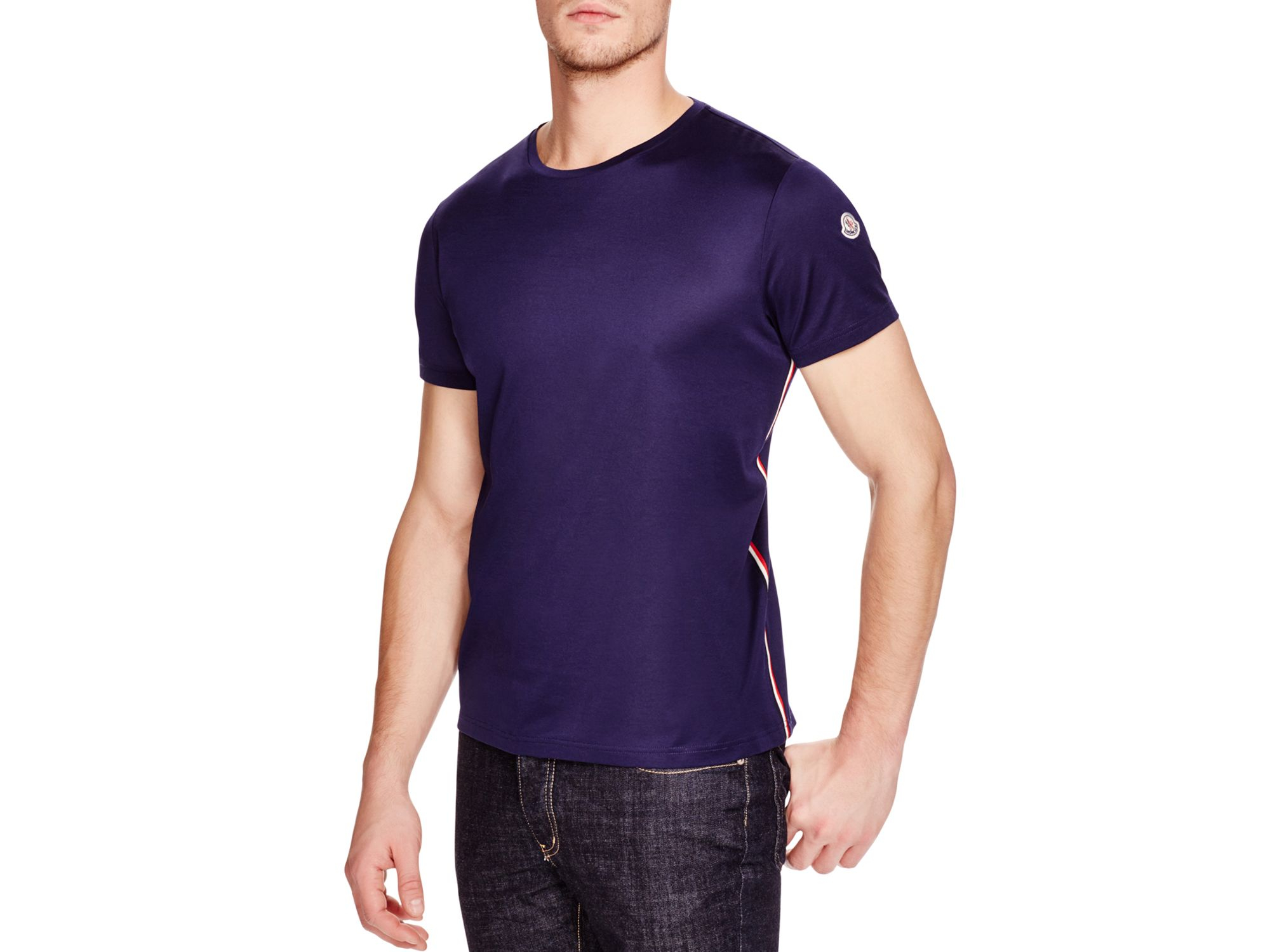 purple moncler t shirt