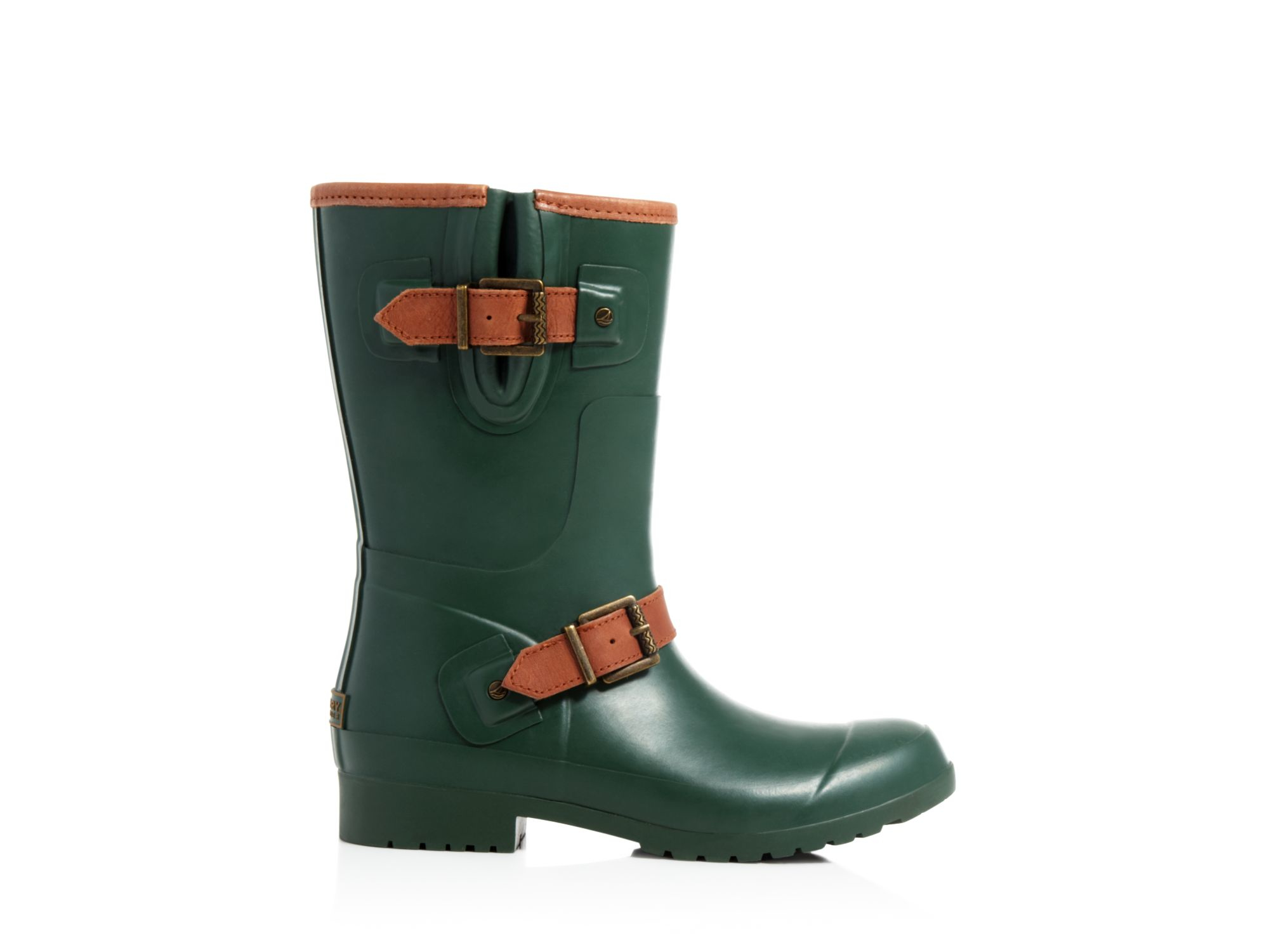 Sperry top-sider Walker Fog Buckled Rain Boots in Green | Lyst