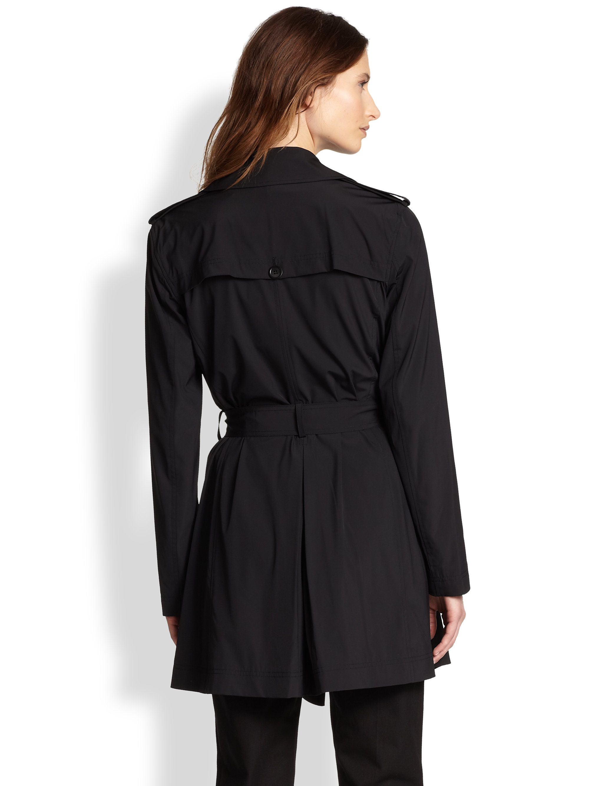 Theory Kota Trench Coat In Black Lyst