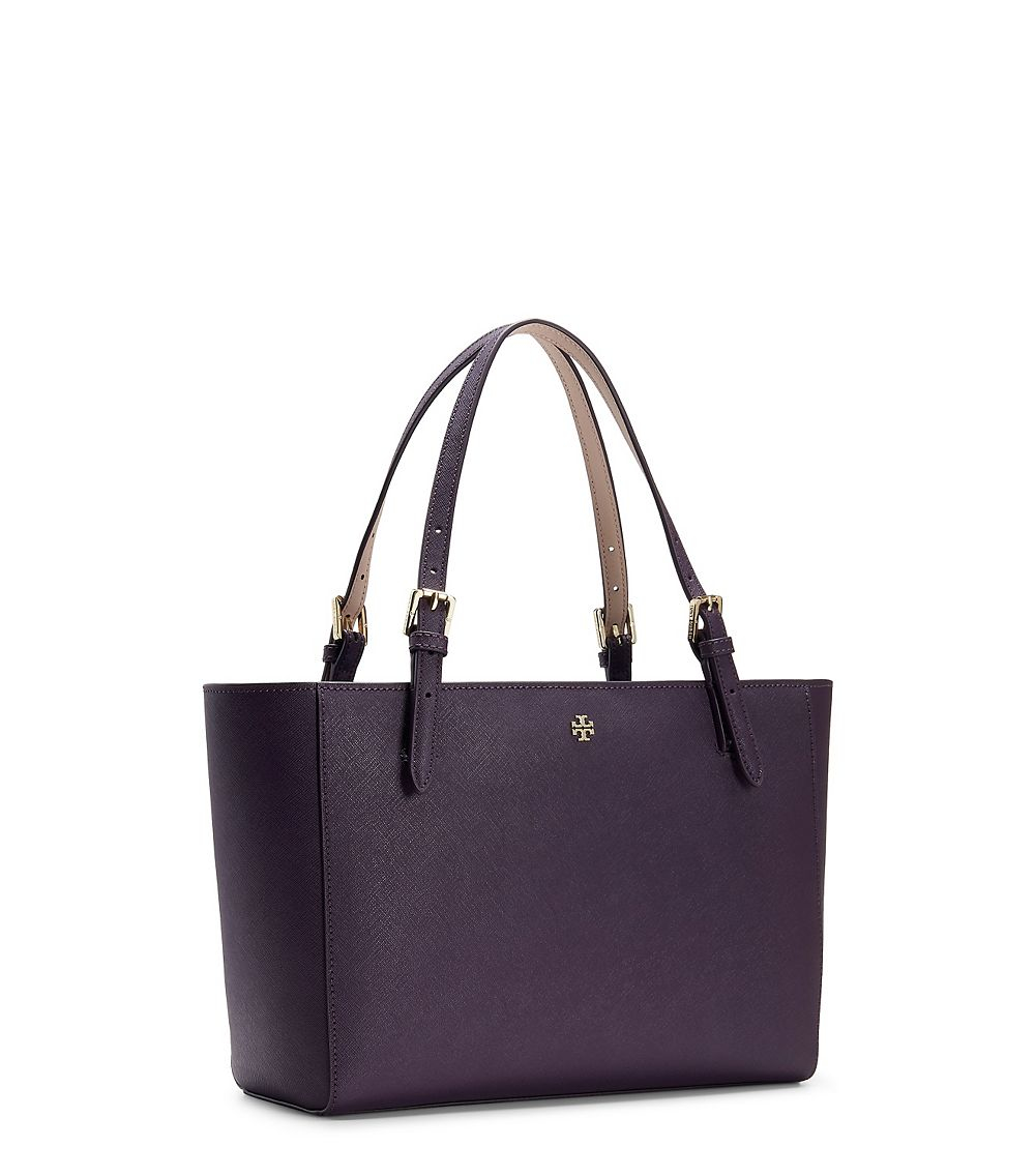 Tory Burch York Small Buckle Tote in Purple - Lyst eb5f8153a1028