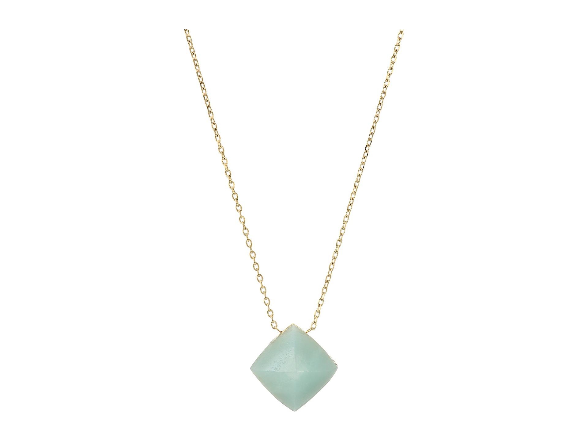 michael kors blush semi precious pyramid pendant