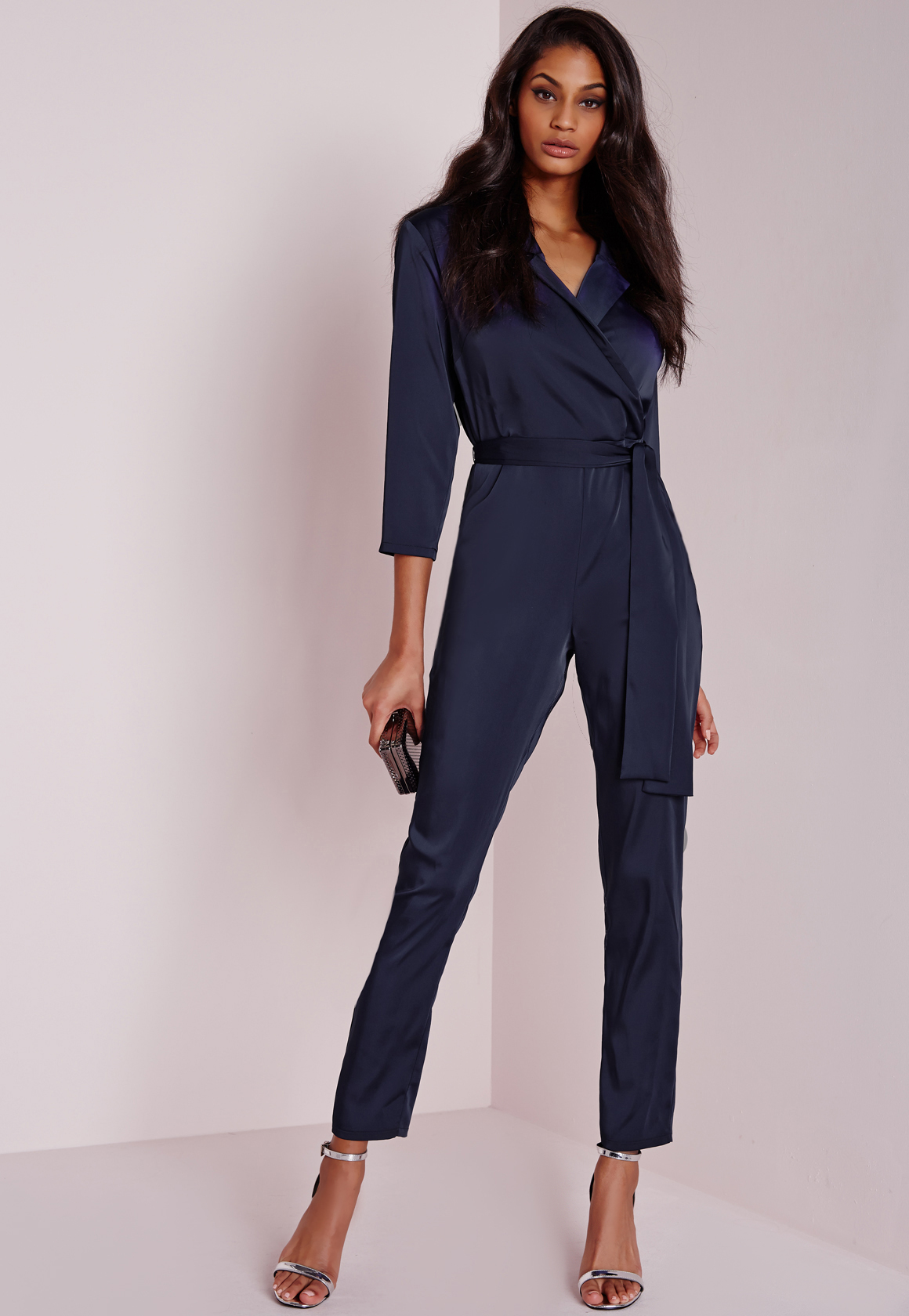 Lastest Myntra MANGO Women Navy Jumpsuit 748395  Buy Myntra MANGO Jumpsuit At