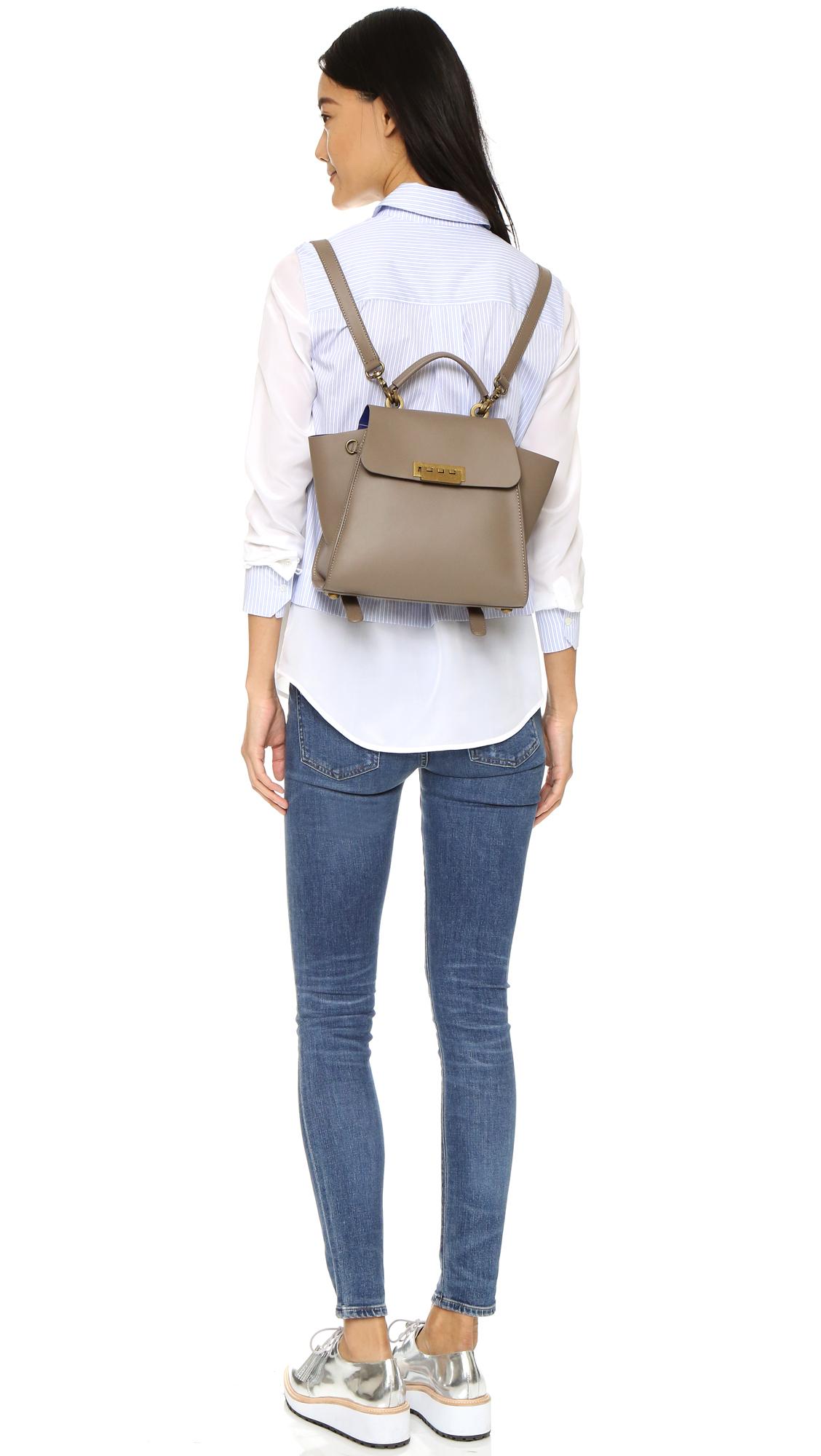 Zac Zac Posen Eartha Iconic Convertible Backpack In Gray