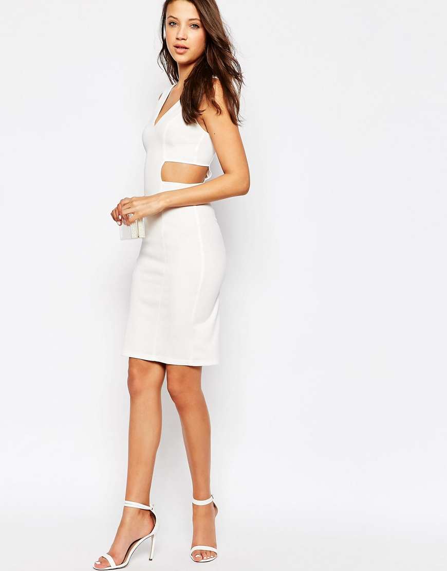 Bodycon cutout white sides with dress iconic