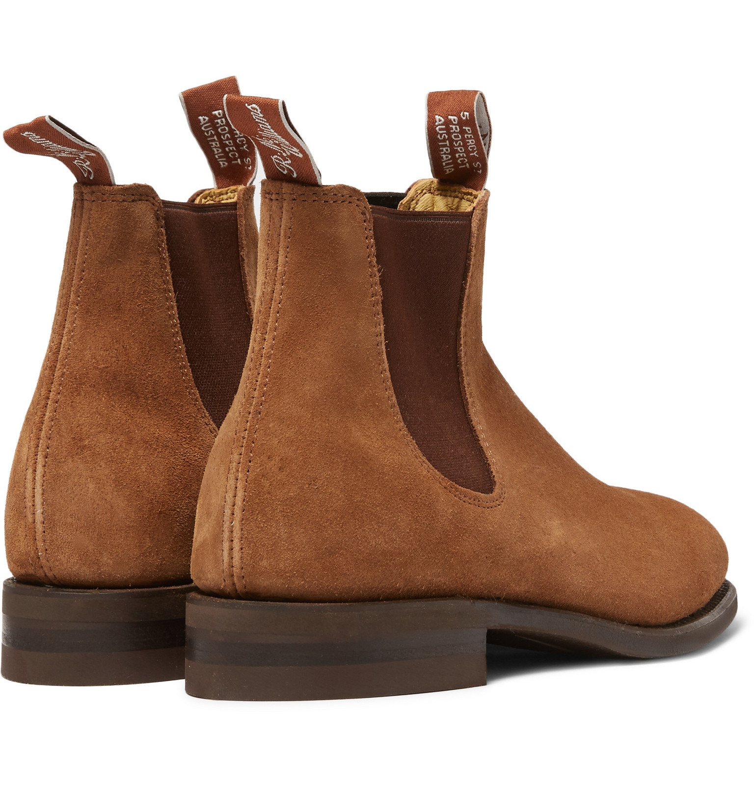 Lyst - R.M. Williams Suede Chelsea Boots in Brown for Men