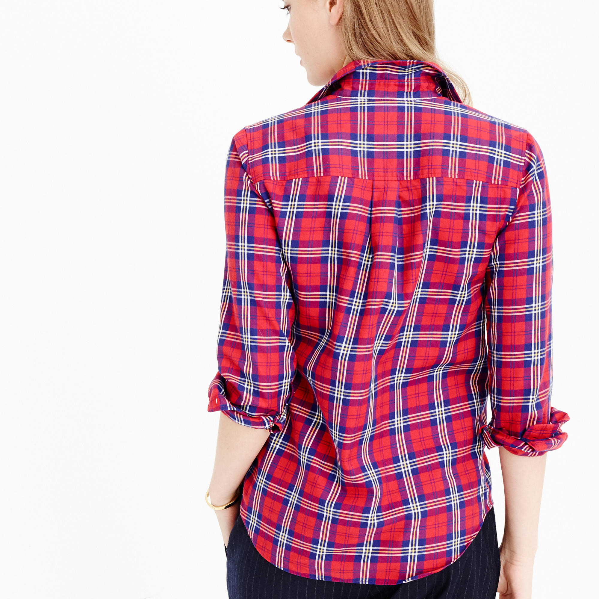07039b87f61 Lyst - J.Crew Thomas Mason Flannel Shirt In Festive Plaid in Red