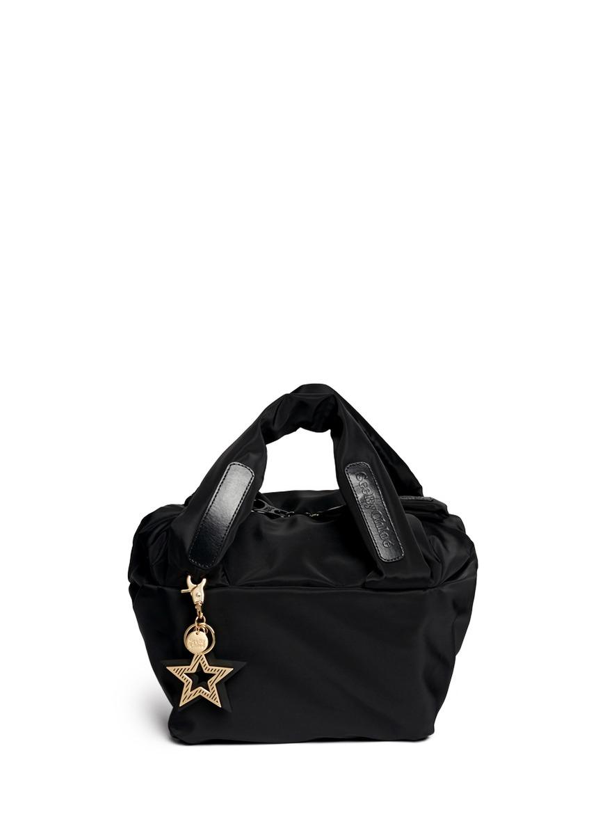 de3bc3632702 Lyst - See By Chloé  joy Rider  Small Nylon Puffer Bag in Black