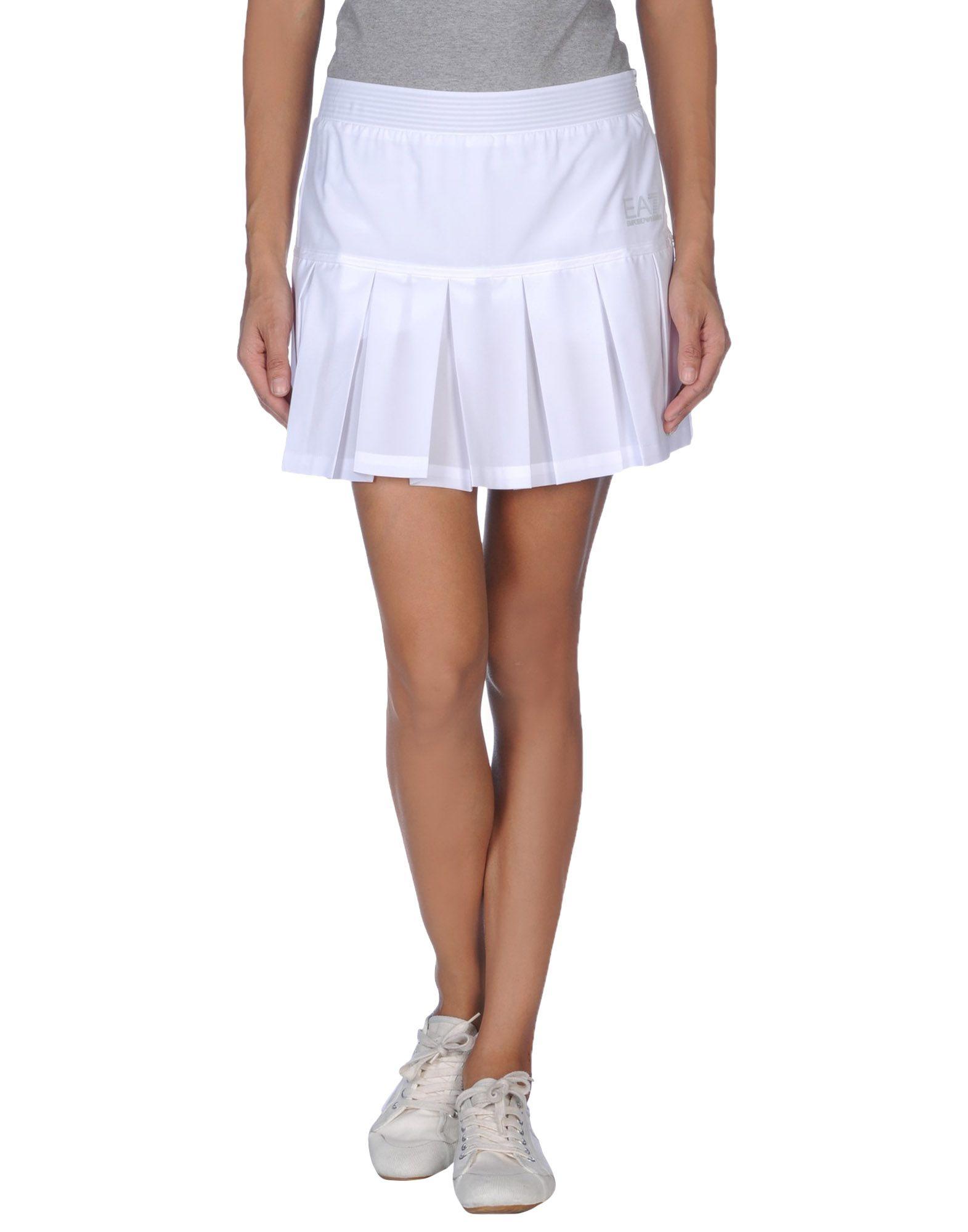 ea7 mini skirt in white save 57 lyst