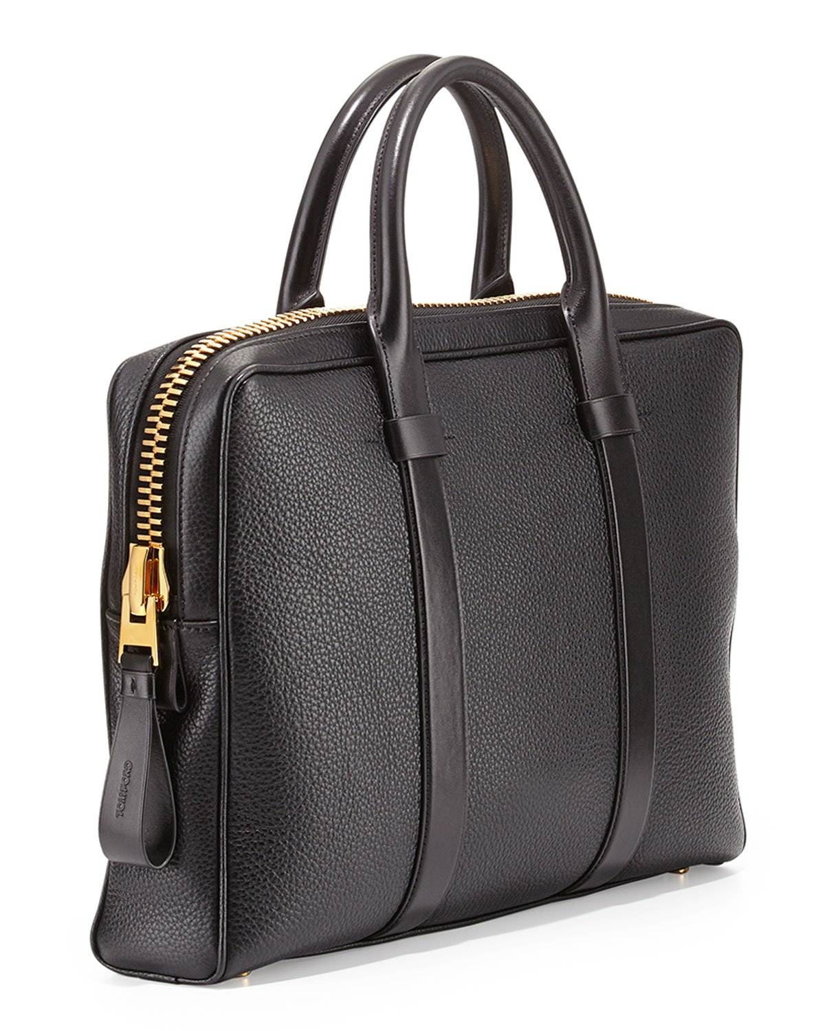 Lyst - Tom Ford Buckley Leather Briefcase in Black for Men