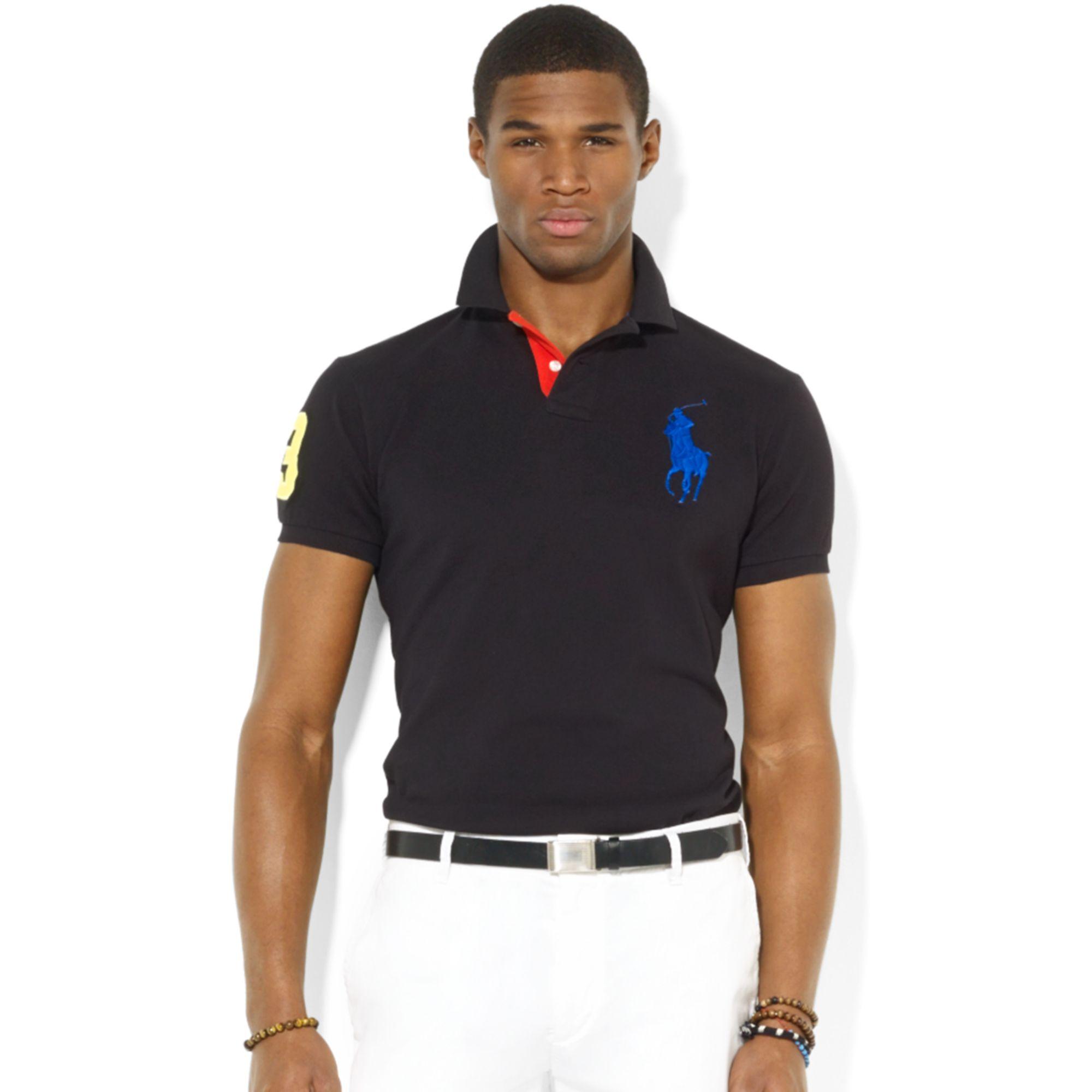 Polo ralph lauren men custom fit big pony polo shirt for Polo ralph lauren custom fit polo shirt