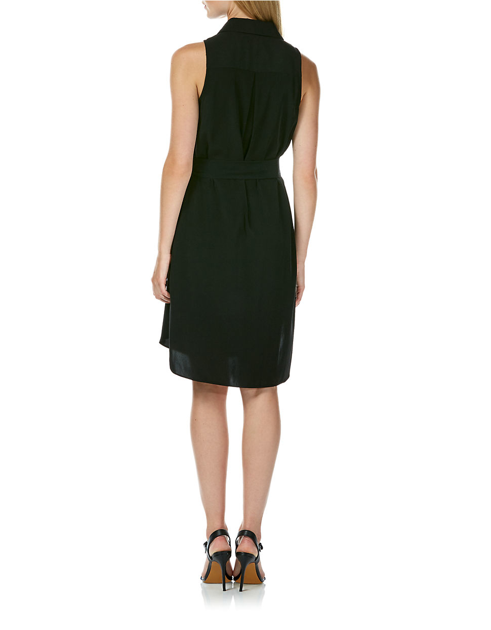 Laundry by shelli segal Sleeveless Shirt Dress in Black | Lyst