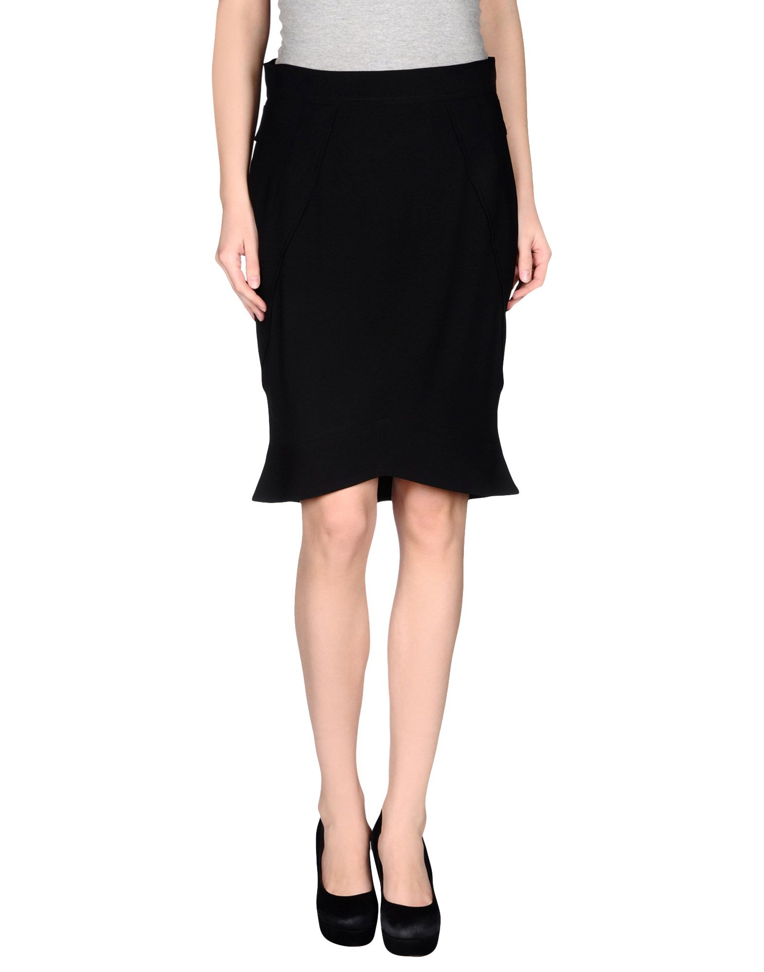 richmond knee length skirt in black save 70 lyst