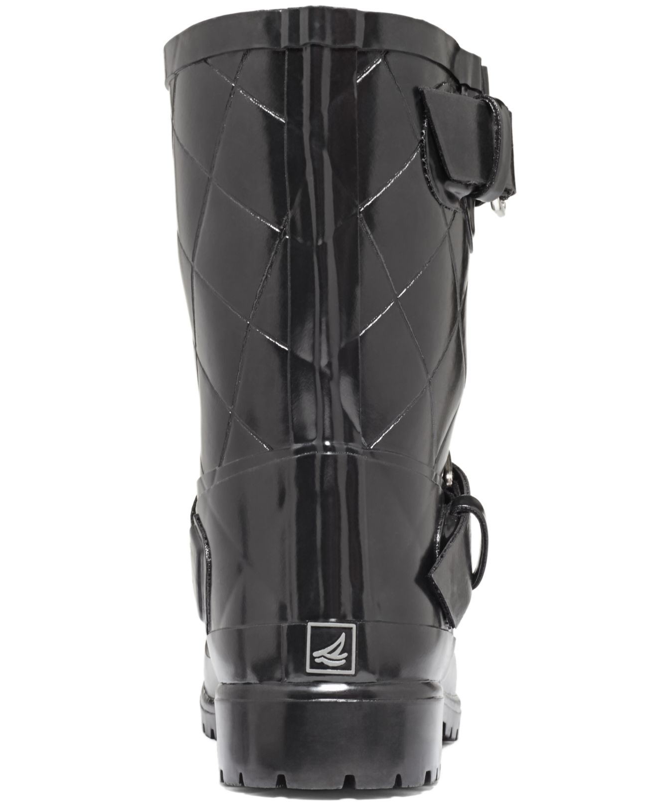 Sperry top-sider Sperry Women'S Falcon Short Rain Boots in Black ...