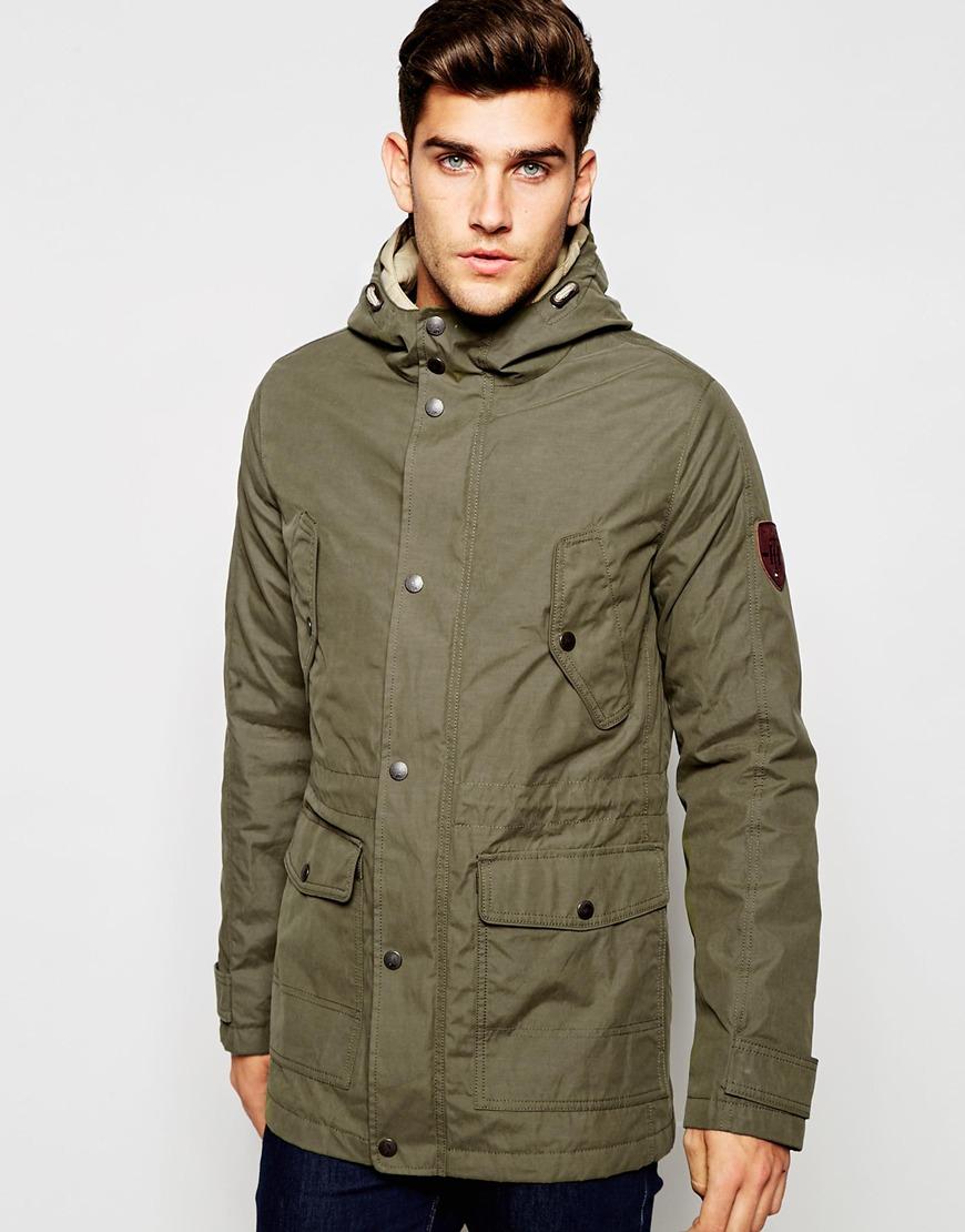 tommy hilfiger jacket in khaki in natural for men lyst. Black Bedroom Furniture Sets. Home Design Ideas