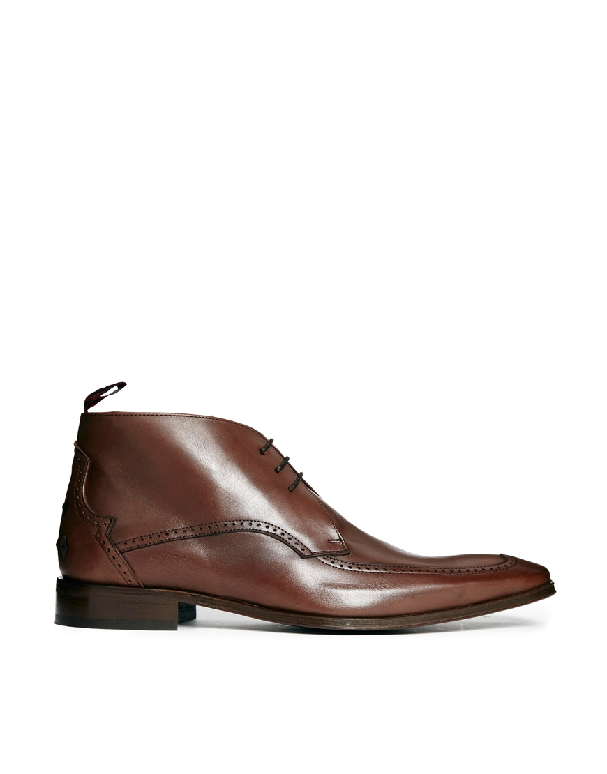 jeffery west apron chukka boots in brown for lyst