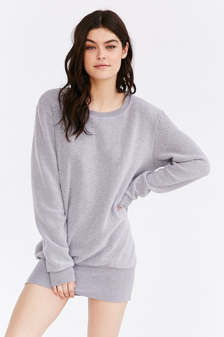 Lyst - Project Social T Dylan Cozy Oversized Pullover Sweatshirt in Gray 1bf833ef3