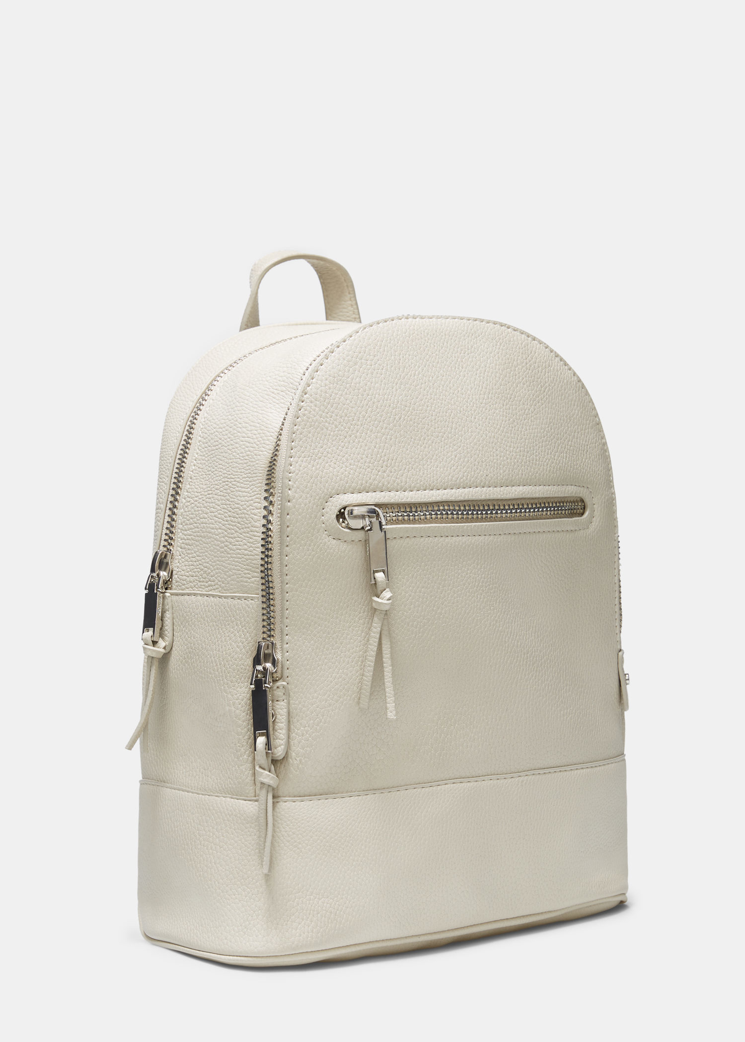 mango zipped backpack in white lyst. Black Bedroom Furniture Sets. Home Design Ideas