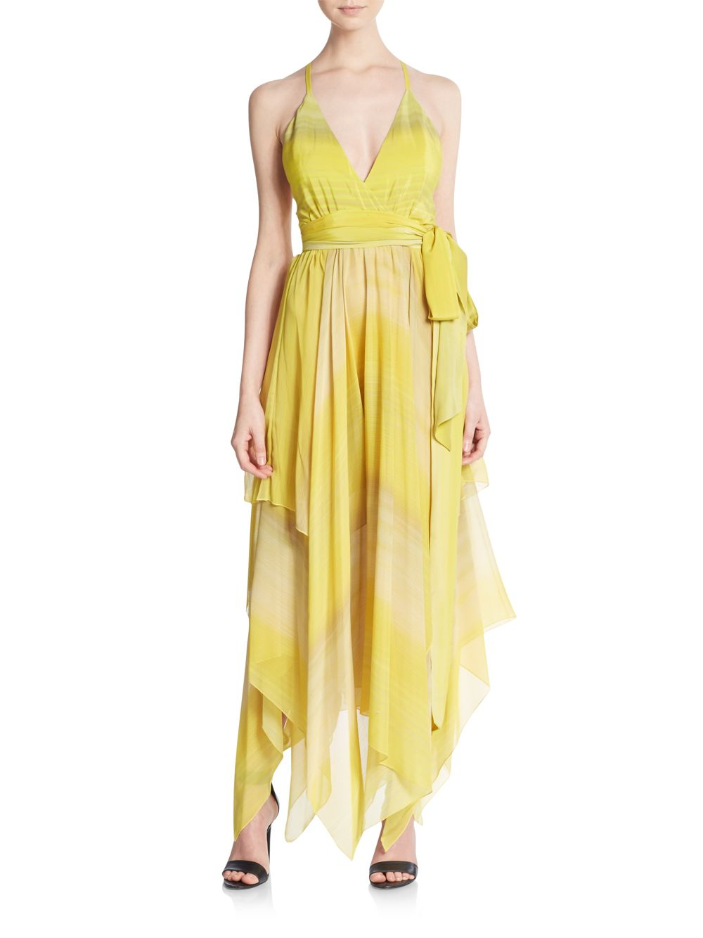 1f2da3d95d Alice + Olivia Tonia Handkerchief Hem Maxi Dress in Yellow - Lyst