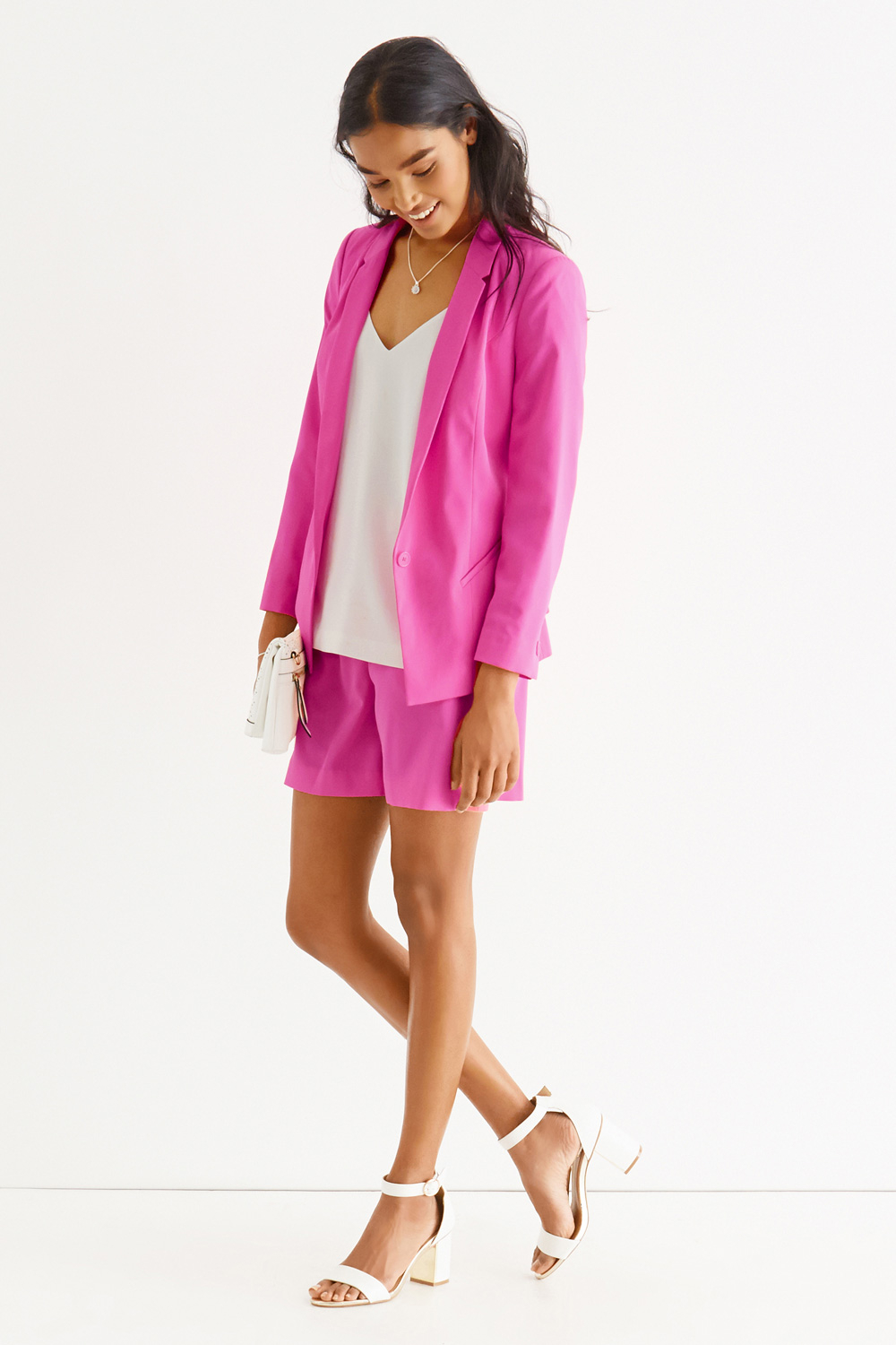 cb70dd49fab2 Oasis Fluro Soft Suit Jacket in Pink - Lyst