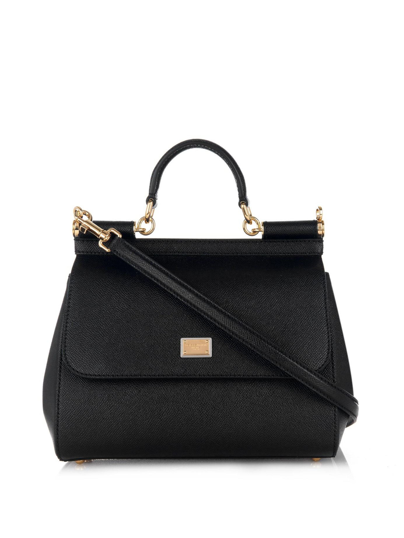 849a3ffb8261 Dolce   Gabbana Sicily Dauphine Medium Cross-Body Bag in Black - Lyst