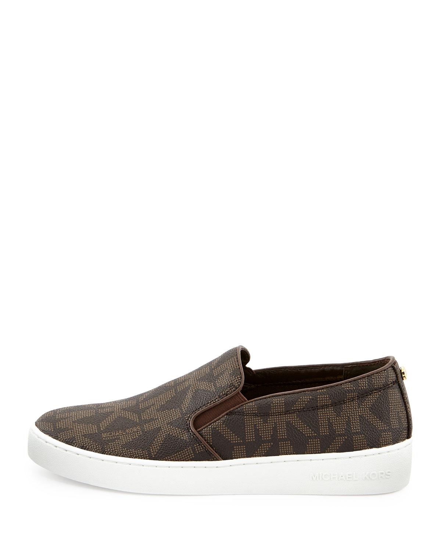6219b6e5cec1b Lyst - MICHAEL Michael Kors Keaton Slip-on Sneaker in Brown