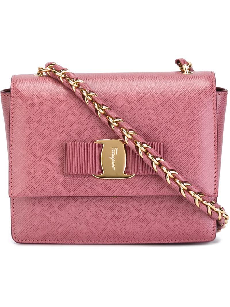 971b6b7b7e84 Lyst - Ferragamo  Ginny  Crossbody Bag in Pink