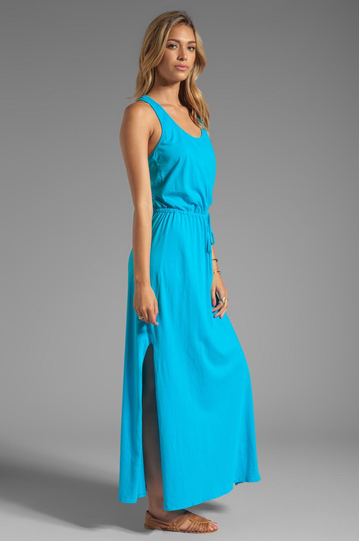 Lyst - Michael Stars Crochet Racerback Maxi Dress in Blue in Blue