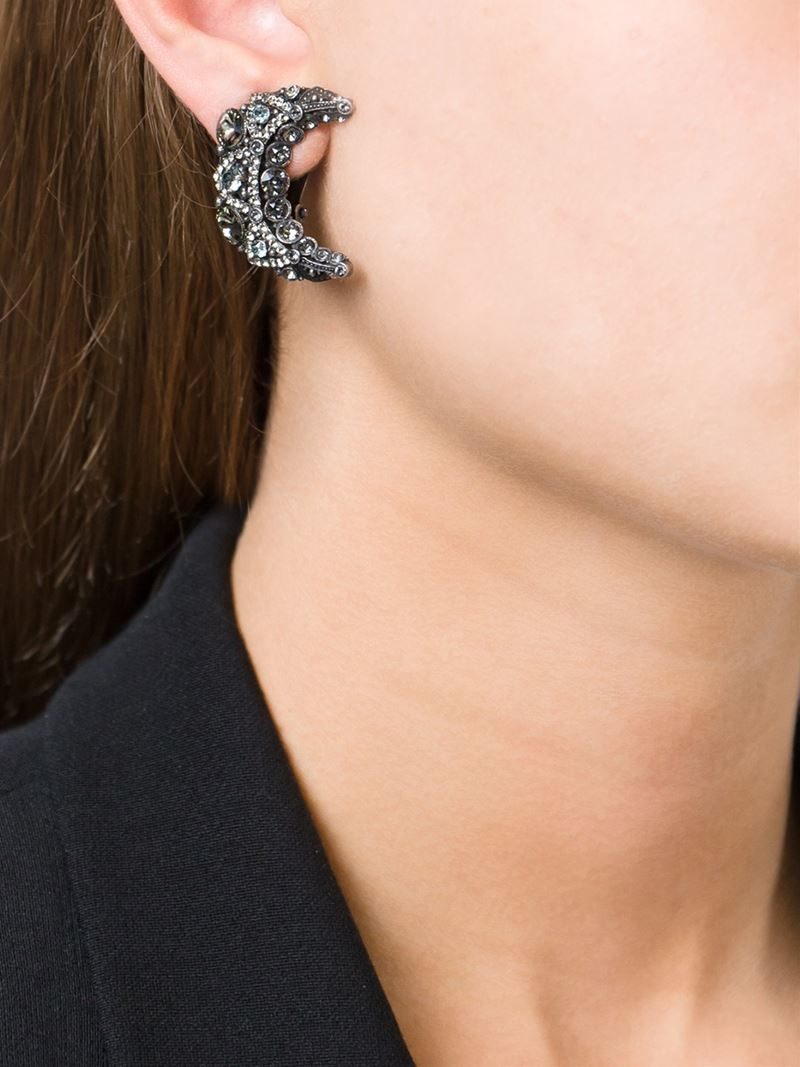 Lanvin Star & Moon Earrings in Metallics