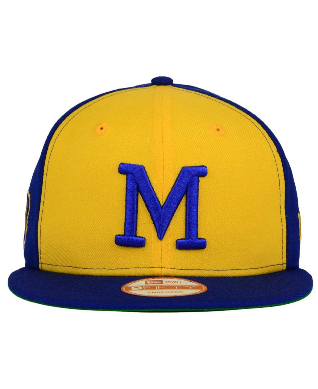 newest 3d8df 815ca KTZ Milwaukee Brewers 2 Tone Link Cooperstown 9fifty Snapback Cap in ...