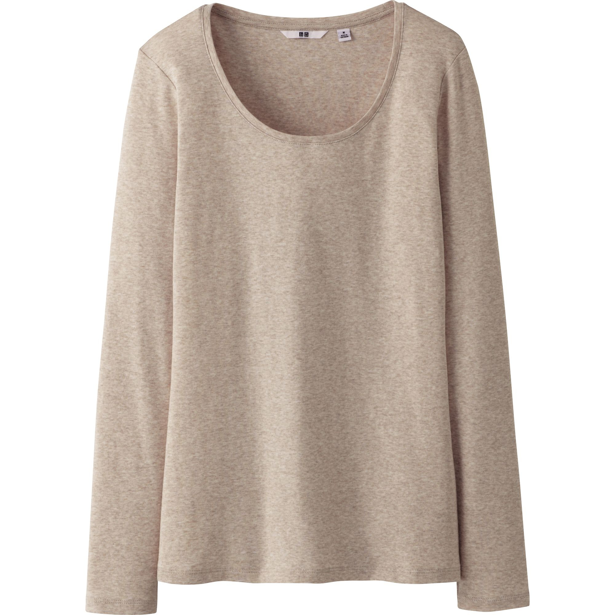 Uniqlo premium cotton crew neck long sleeve tshirt b in for Uniqlo premium t shirt