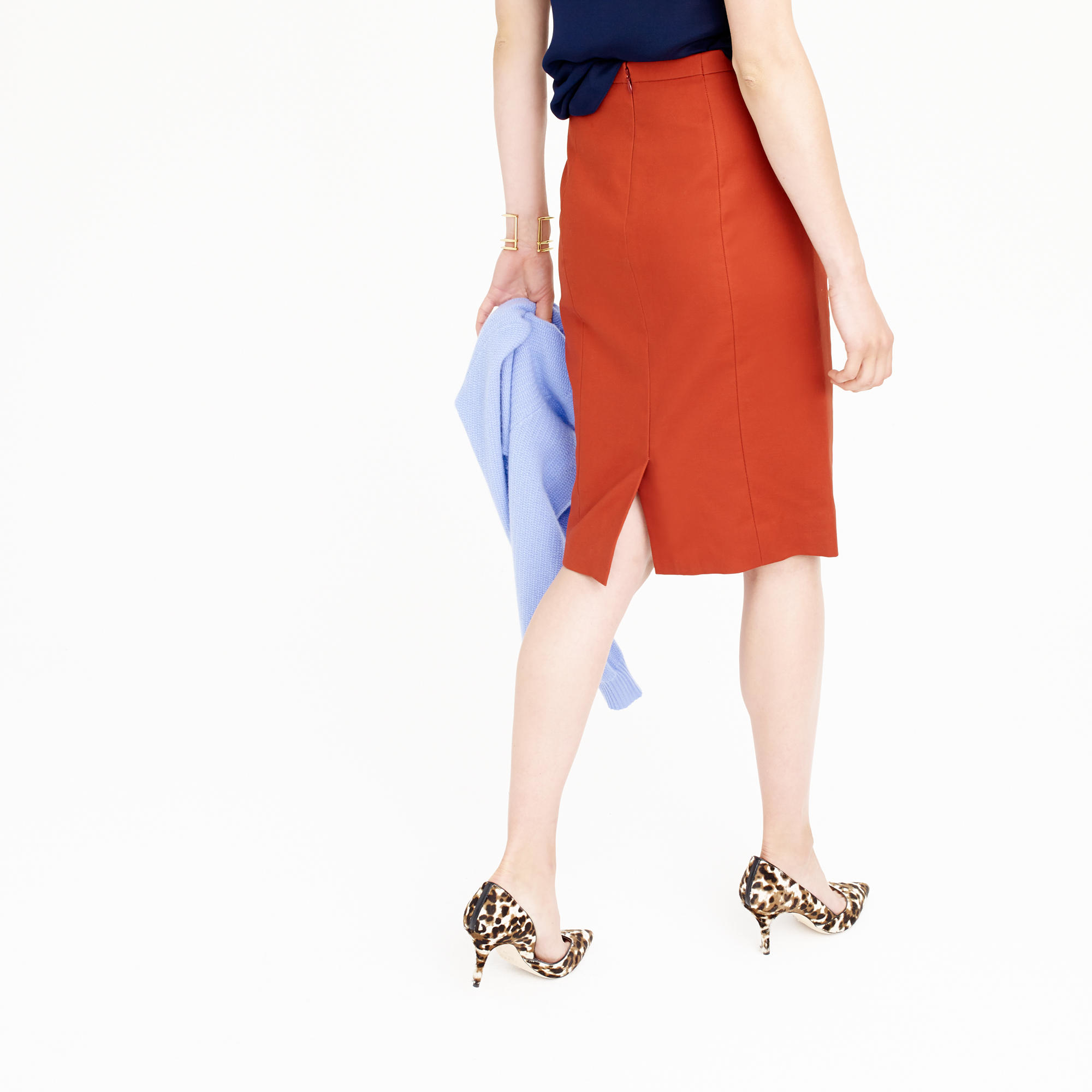 j crew no 2 pencil skirt in cotton twill in lyst
