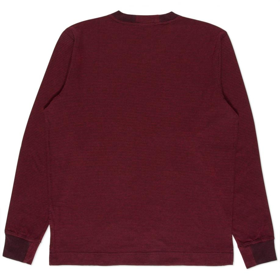 Paul smith Men's Burgundy Tonal-stripe Long-sleeve T-shirt in ...