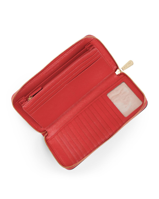ee7792711e30 MICHAEL Michael Kors Jet Set Travel Continental Wallet in Orange - Lyst