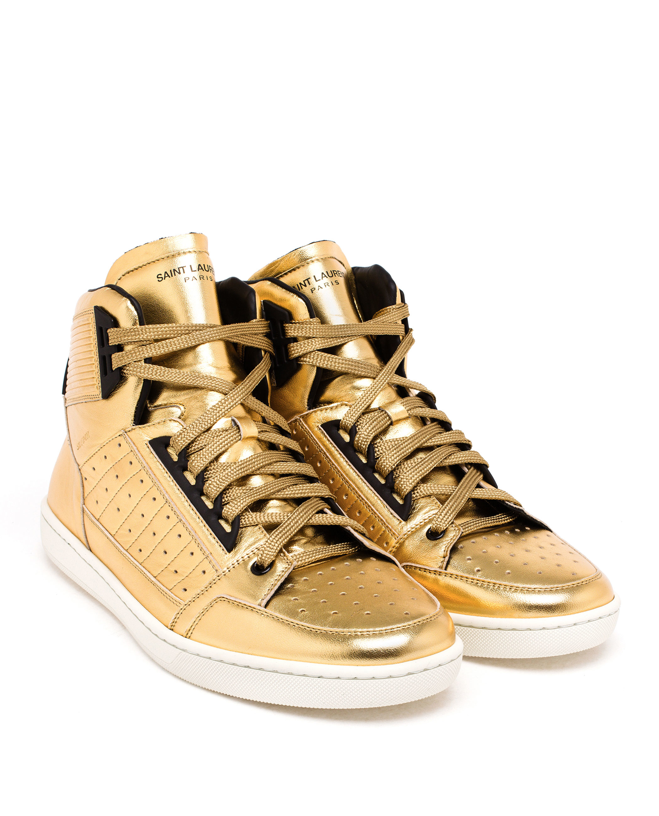 Saint Laurent Metallic Shoes Mens