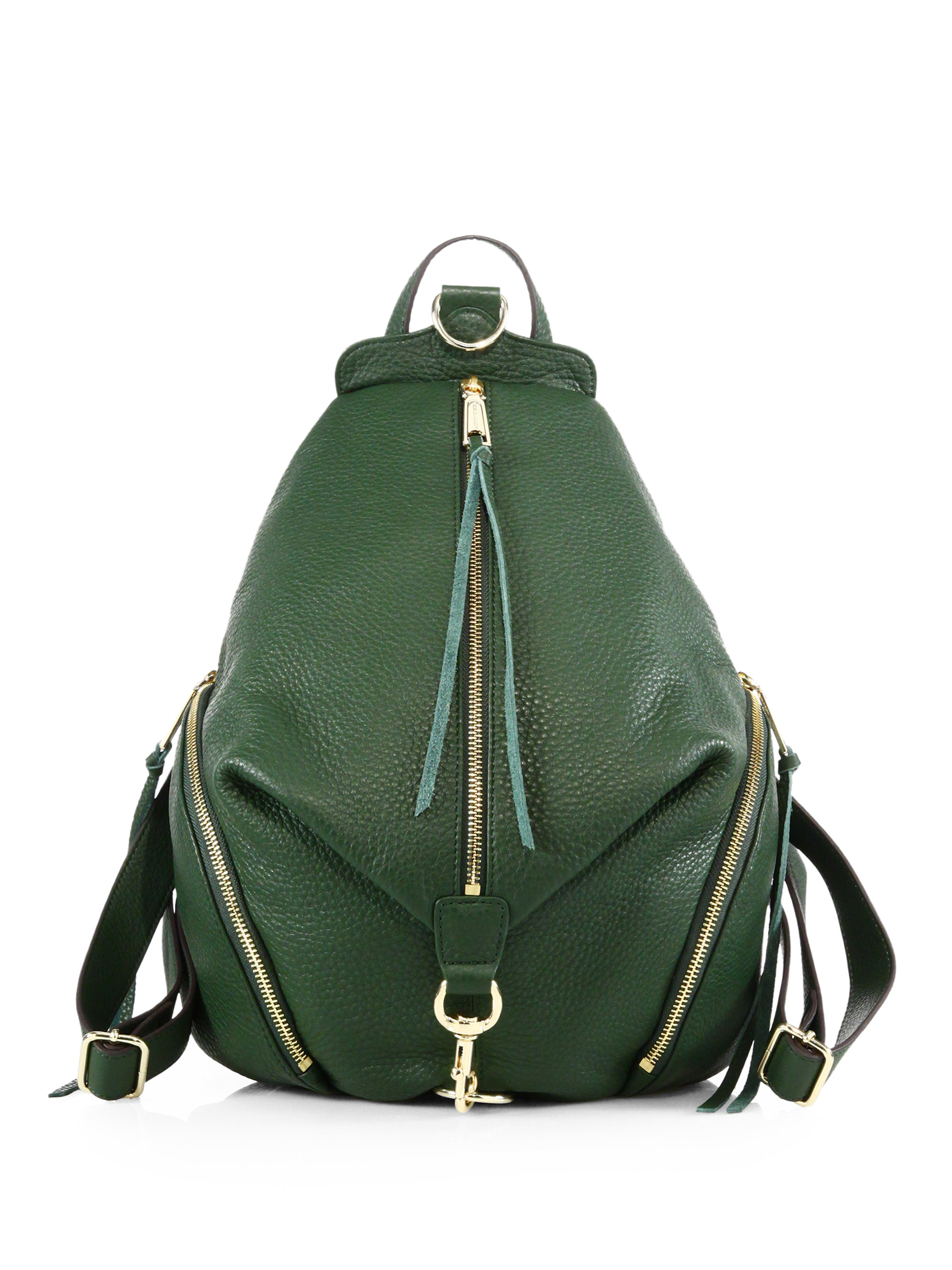 Rebecca minkoff Julian Leather Backpack in Green | Lyst