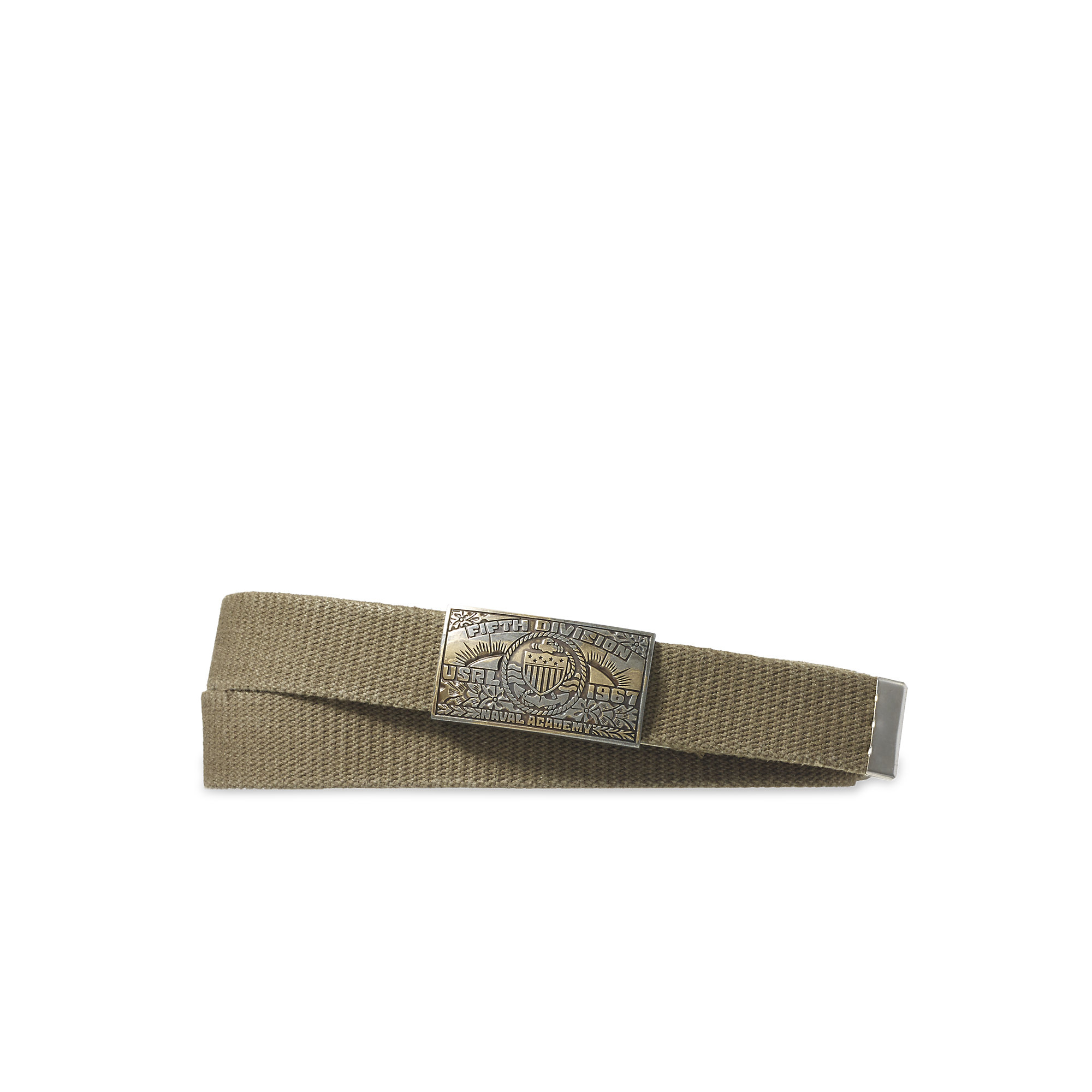 Polo Ralph Lauren Etched Plaque Buckle Belt In Natural For