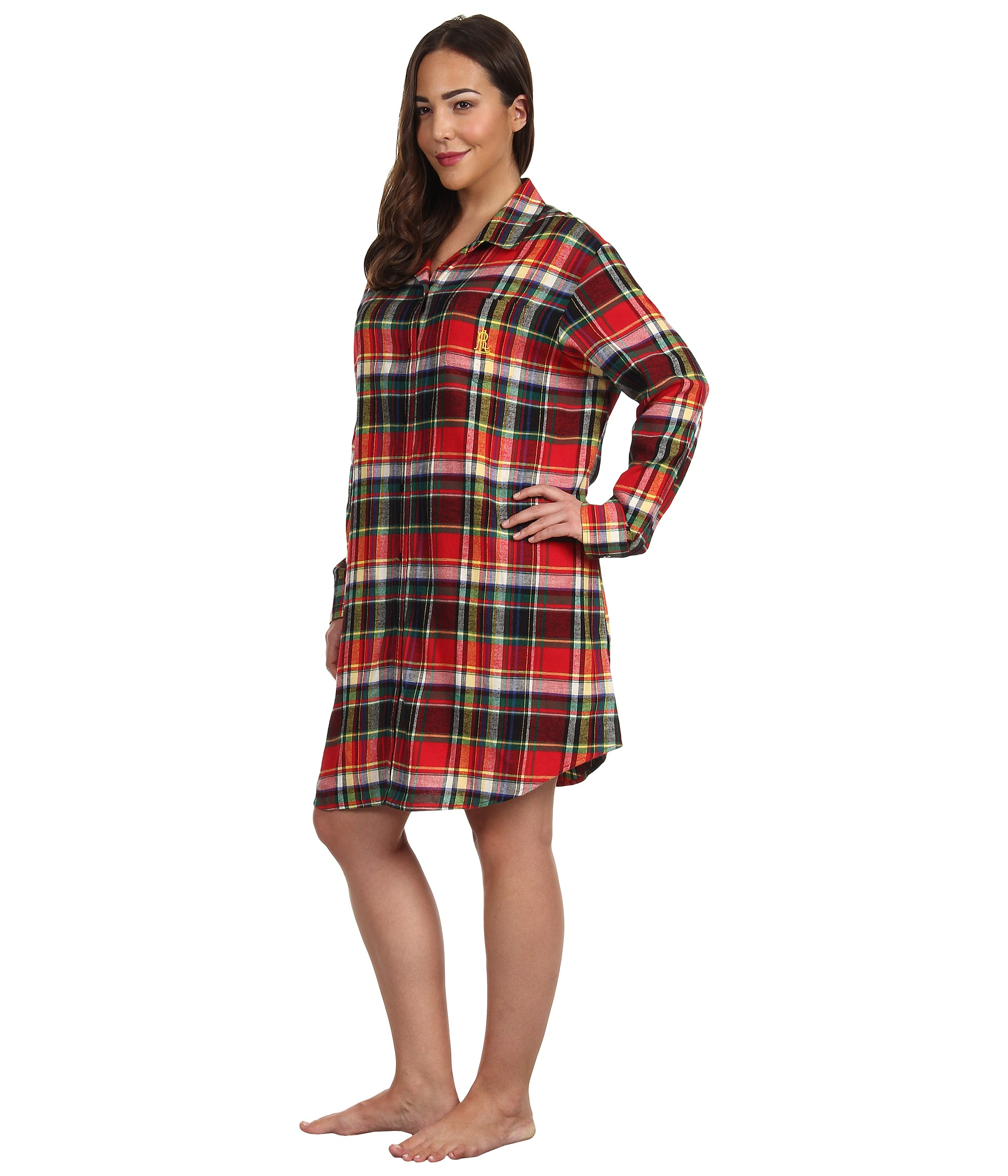 ba722fa0c58e4 Lyst - Lauren by Ralph Lauren Plus Size Town and Country Flannel Ls ...